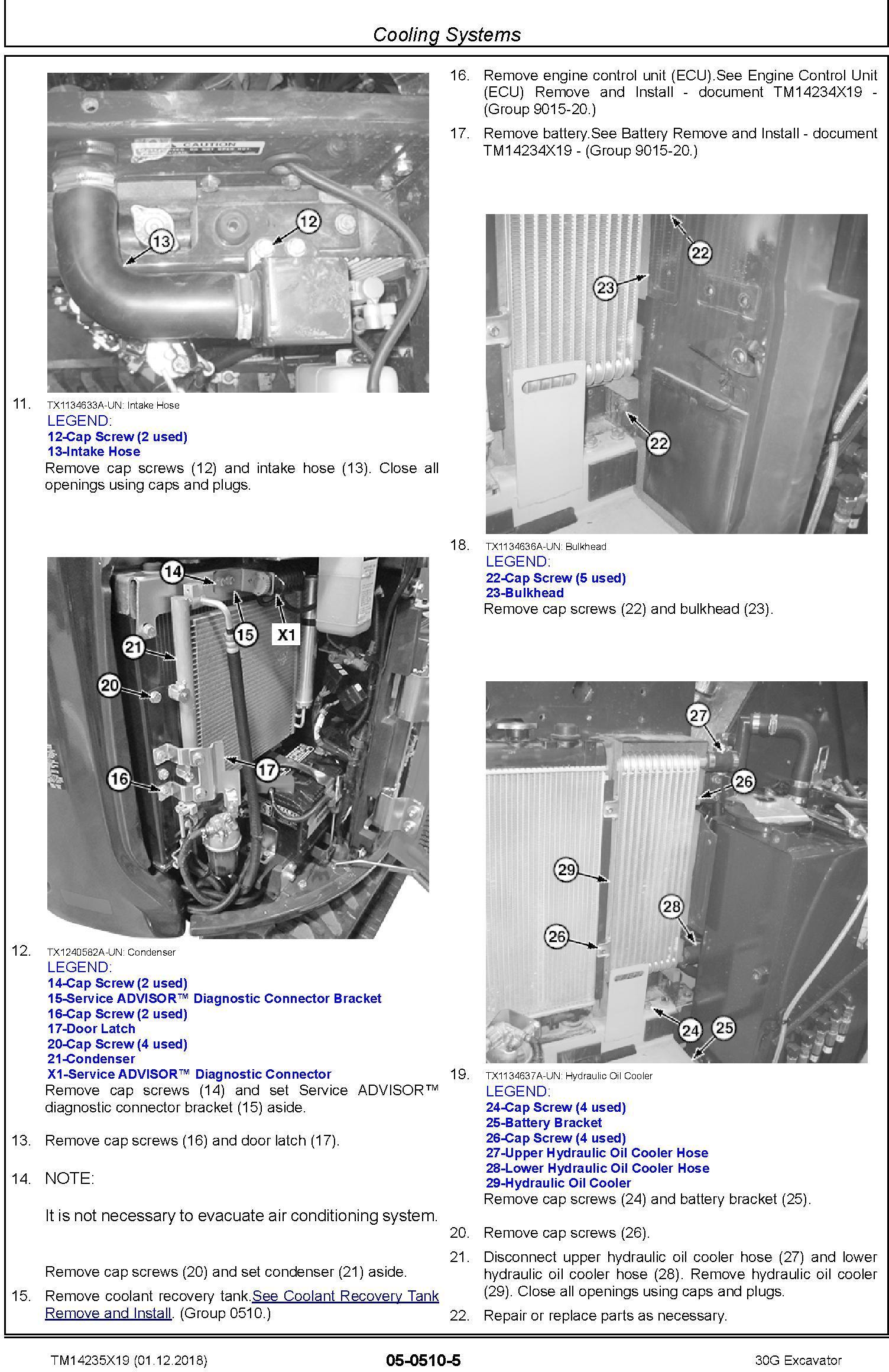 John Deere 30G (SN.from K265001) Excavator Service Repair Technical Manual (TM14235X19) - 3