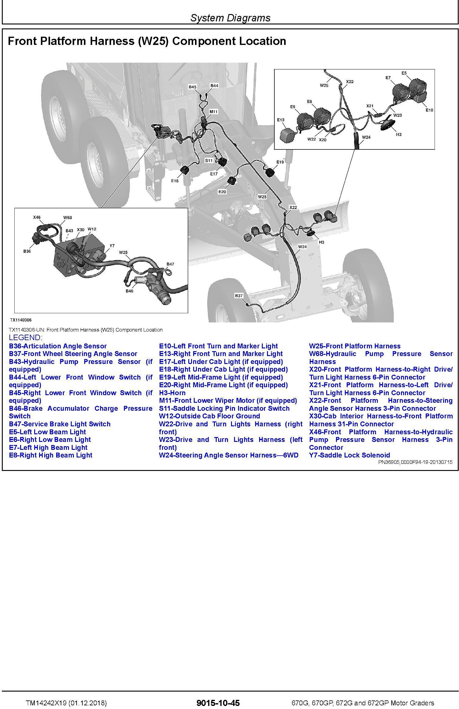 John Deere 670G,670GP, 672G,672GP (SN.F680878-,L700954) Motor Graders Diagnostic Manual (TM14242X19) - 1