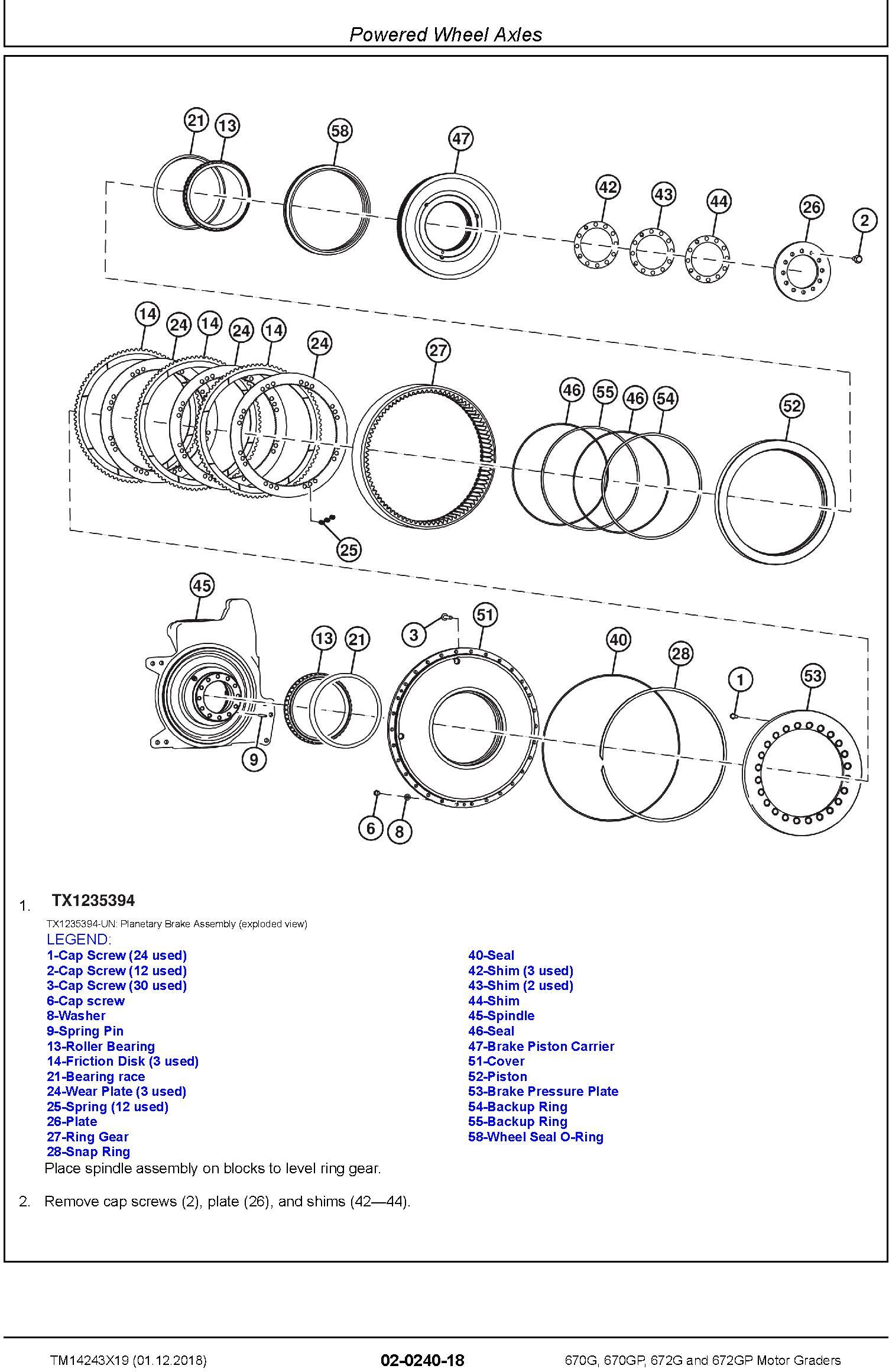 John Deere 670G, 670GP, 672G, 672GP (SN.F680878-, L700954-) Motor Graders Repair Manual (TM14243X19) - 2