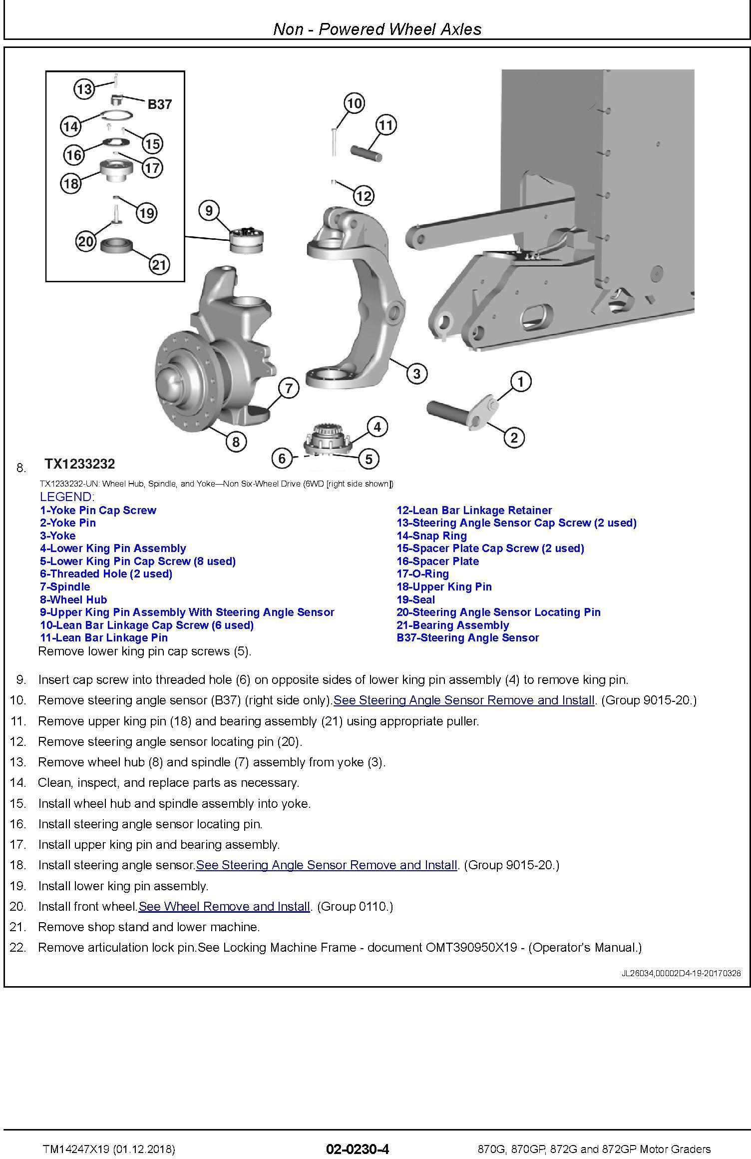 John Deere 870G, 870GP, 872G, 872GP (SN. F680878-,L700954-) Motor Graders Repair Manual (TM14247X19) - 1