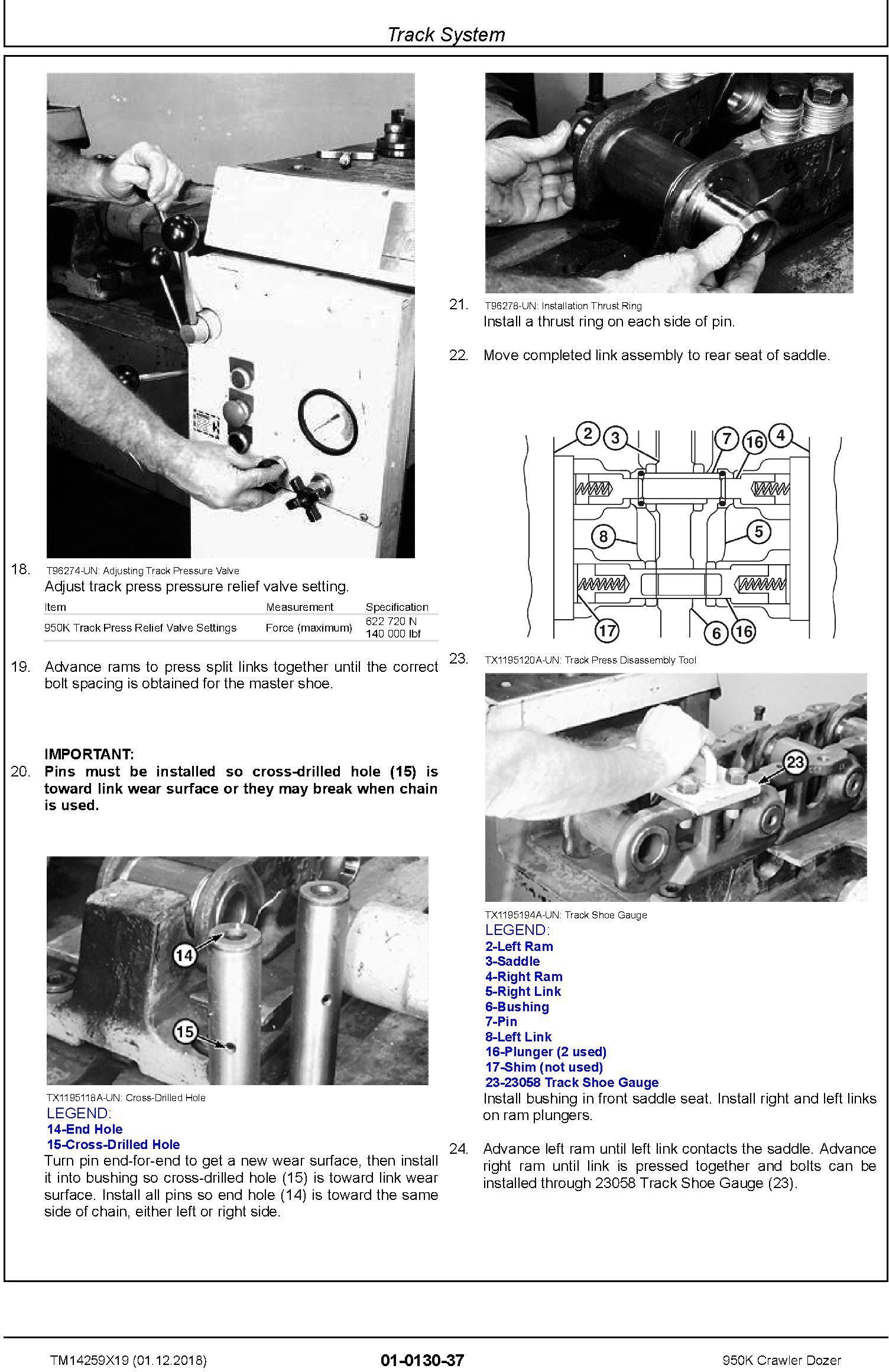 John Deere 950K (SN. C310401-338999) Crawler Dozer Repair Technical Service Manual (TM14259X19) - 2