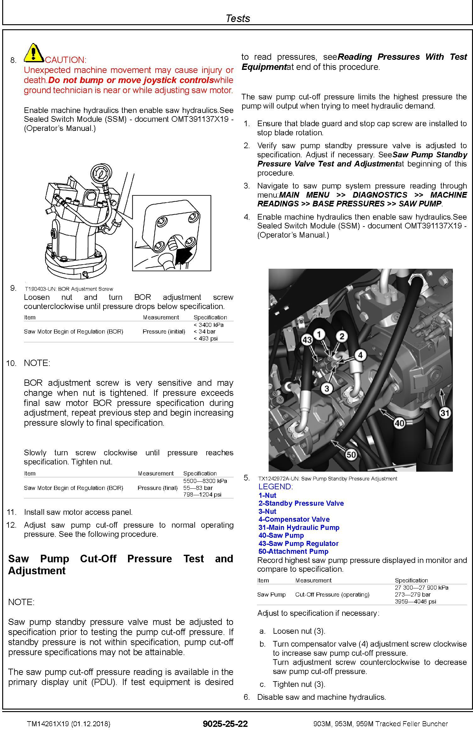 John Deere 903M, 953M, 959M (SN. F317982-, L317982-) Feller Buncher Diagnostic Manual (TM14261X19) - 3