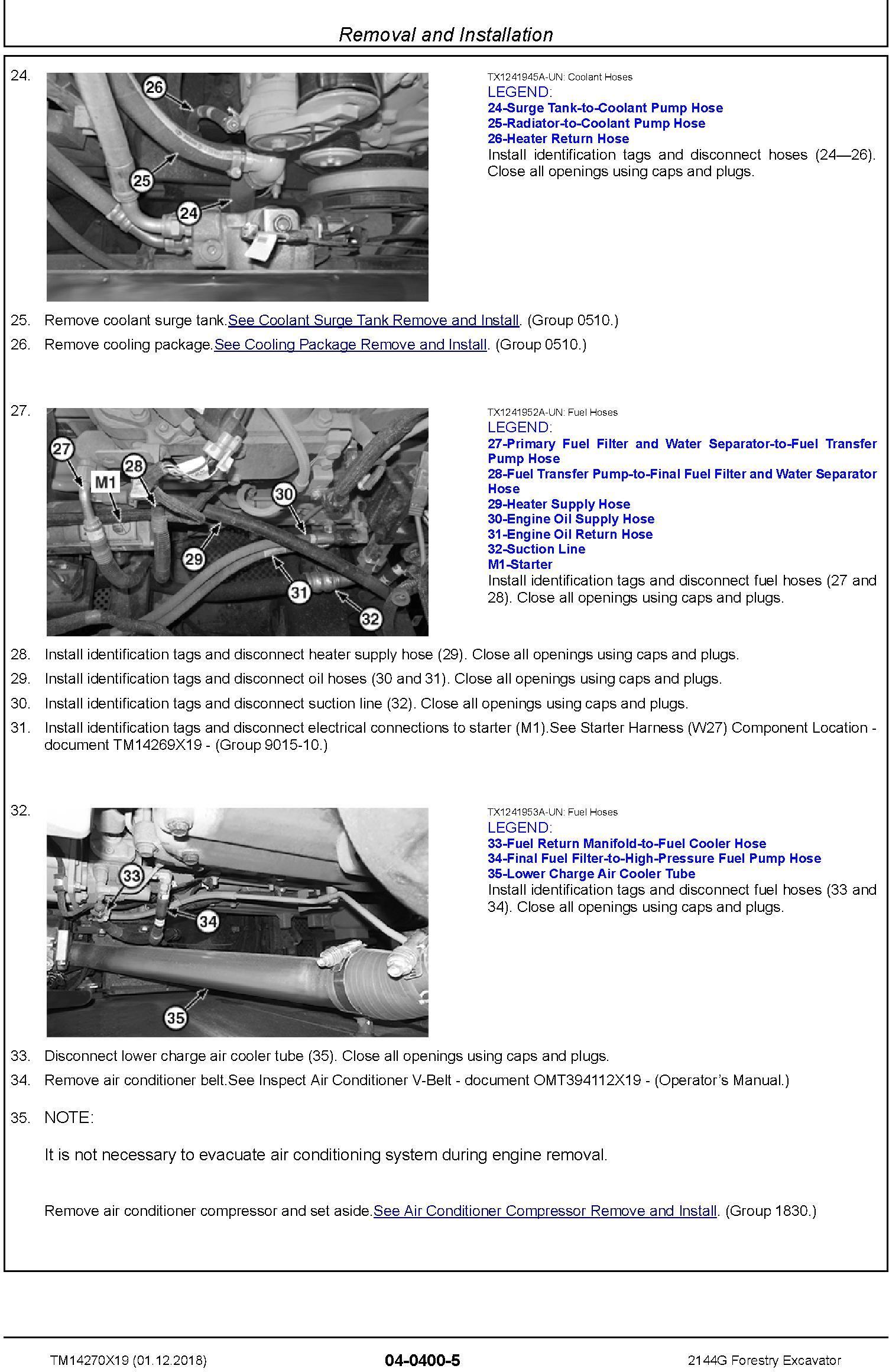 John Deere 2144G (SN. D210001-) Forestry Excavator Service Repair Technical Manual (TM14270X19) - 3