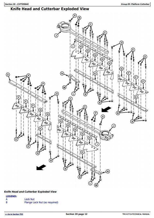 TM142719 - John Deere 525D, 530D, 536D Hay and Forage Draper Platform All Inclusive Technical Manual - 1