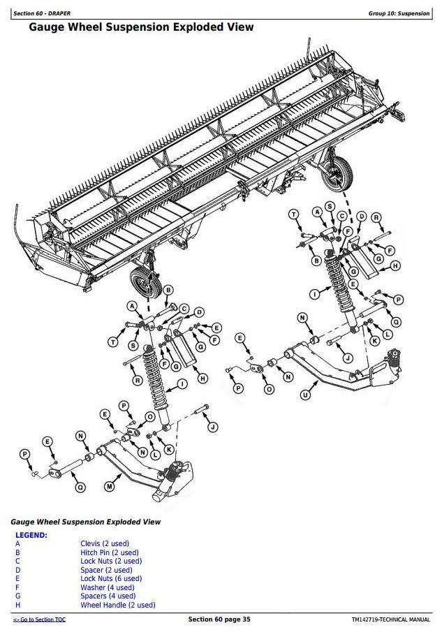TM142719 - John Deere 525D, 530D, 536D Hay and Forage Draper Platform All Inclusive Technical Manual - 2