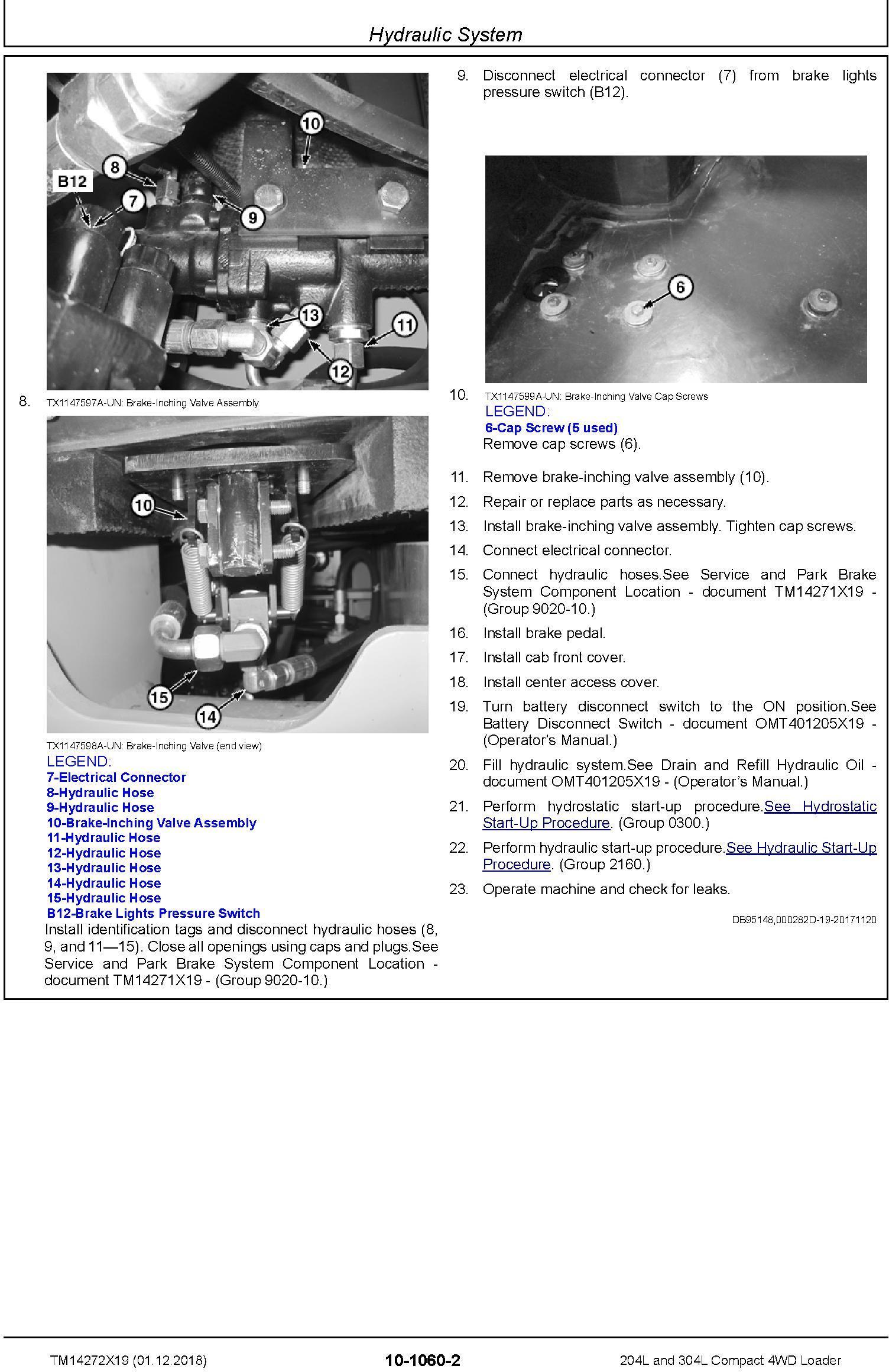 John Deere 204L and 304L (SN. B040073-) Compact 4WD Loader Service Repair Manual (TM14272X19) - 1