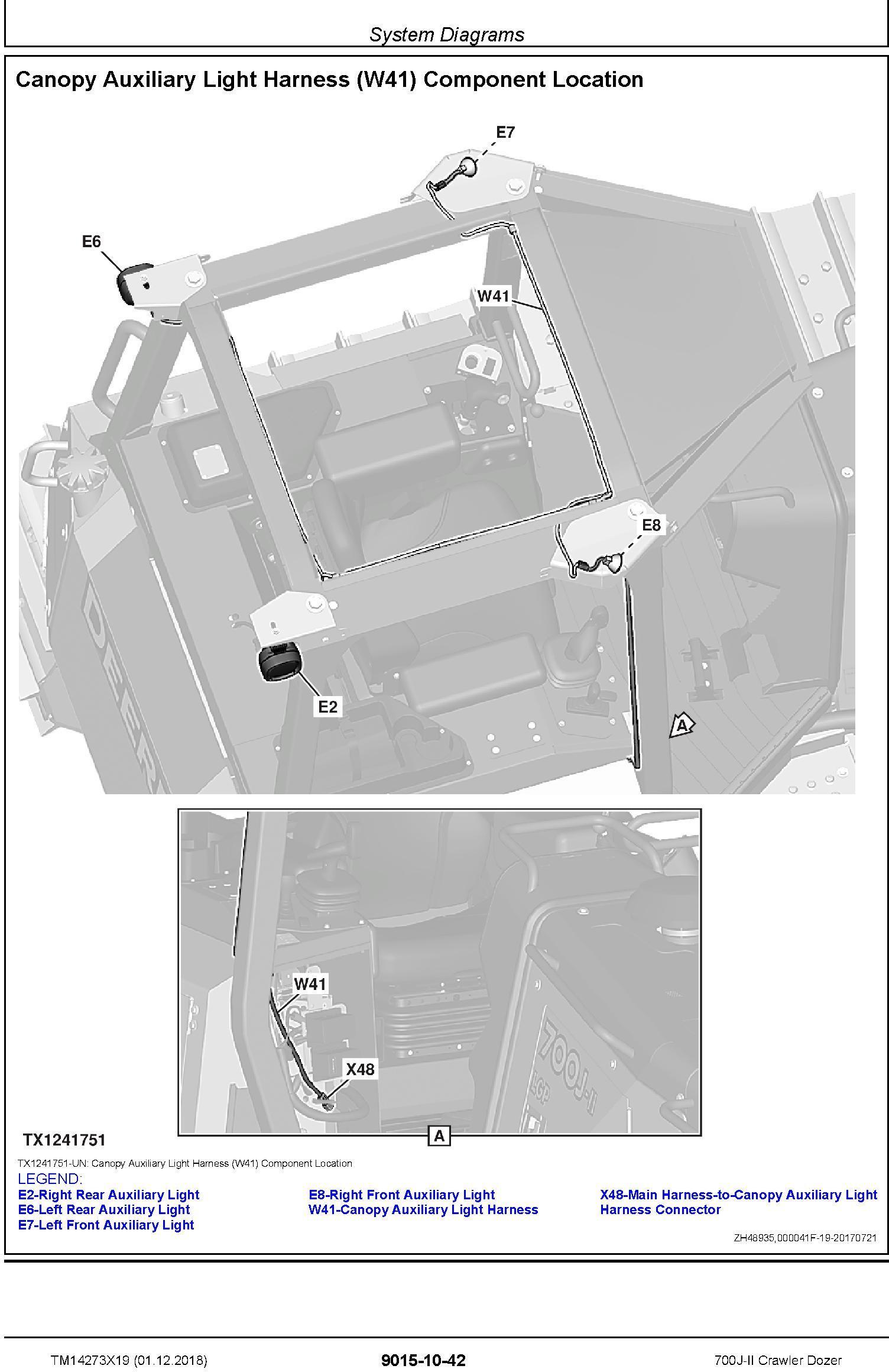John Deere 700J-II (SN. D000001-) Crawler Dozer Operation & Test Technical Manual (TM14273X19) - 1