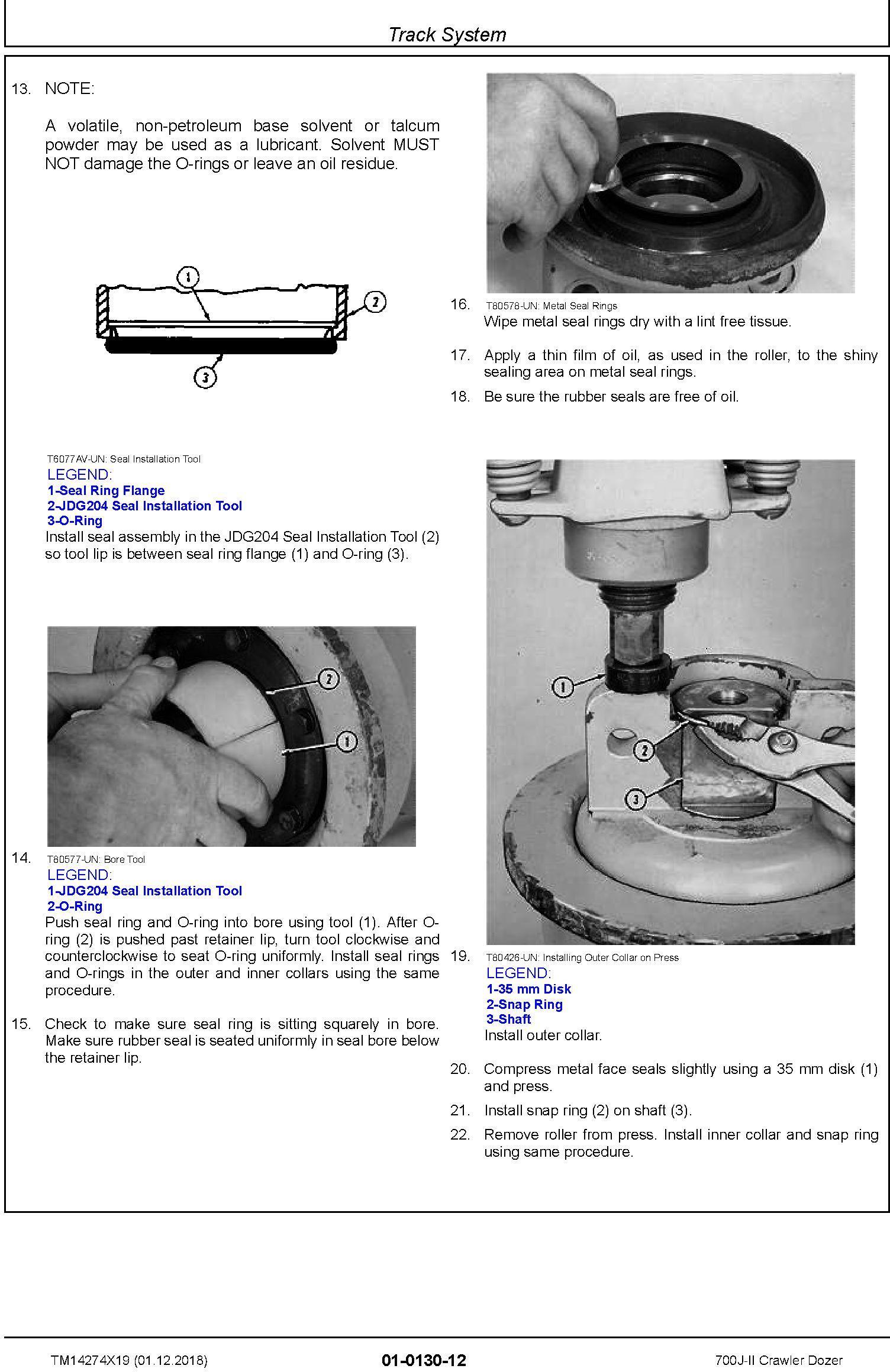 John Deere 700J-II (SN. D000001-) Crawler Dozer Repair Service Manual (TM14274X19) - 1