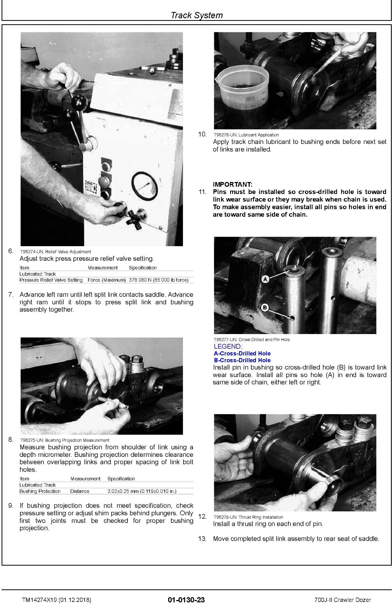 John Deere 700J-II (SN. D000001-) Crawler Dozer Repair Service Manual (TM14274X19) - 2
