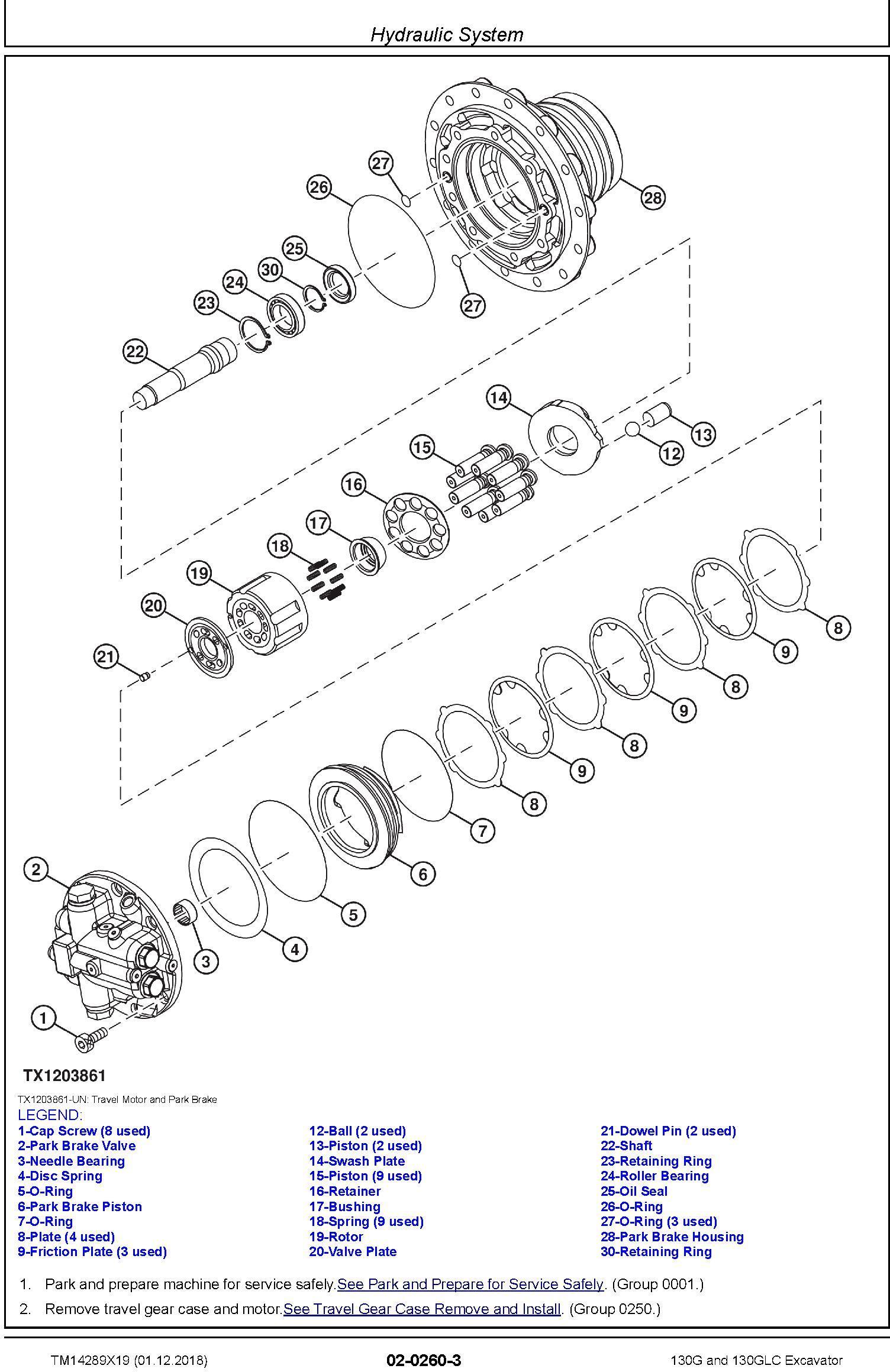 John Deere 130G, 130GLC (SN.from D040001) Excavator Service Repair Technical Manual (TM14289X19) - 1