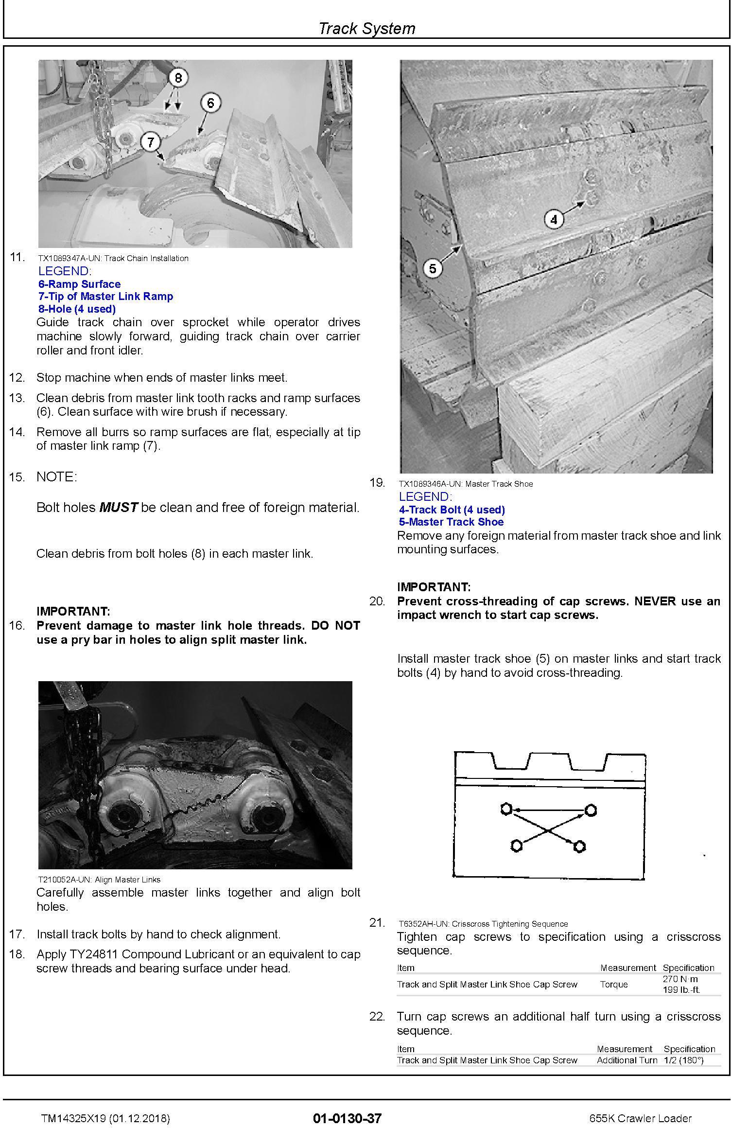John Deere 655K Crawler Loader Repair Technical Manual (TM14325X19) - 2