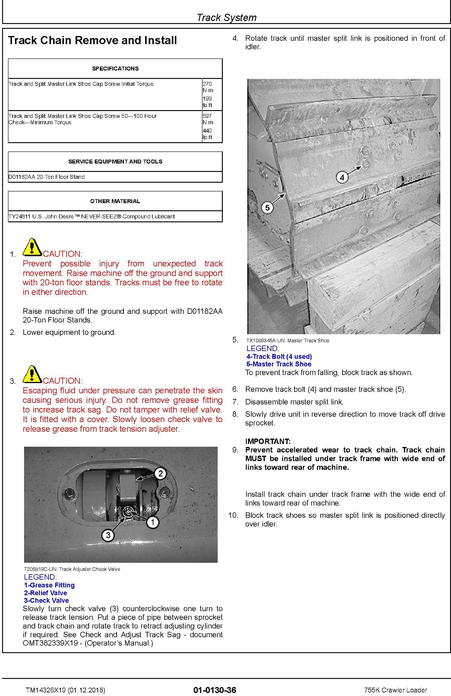 John Deere 755K Crawler Loader Repair Technical Manual (TM14326X19) - 2