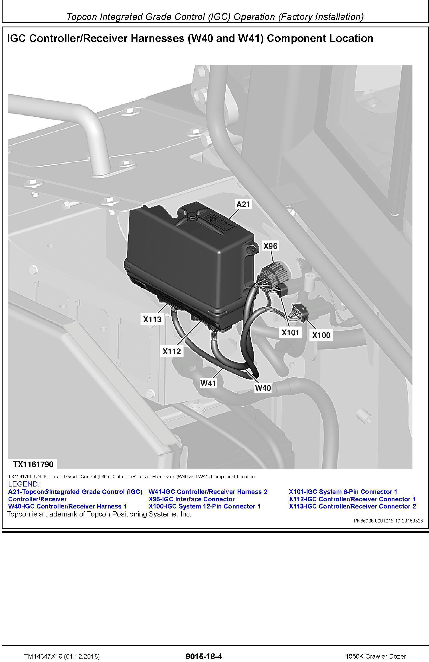 John Deere 1050K (SN. F318802-) Crawler Dozer Operation & Test Technical Manual (TM14347X19) - 1
