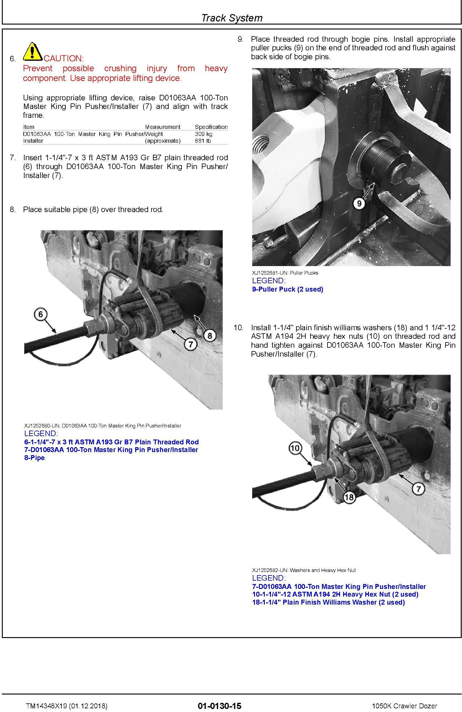 John Deere 1050K (SN. F318802-) Crawler Dozer Service Repair Technical Manual (TM14348X19) - 2