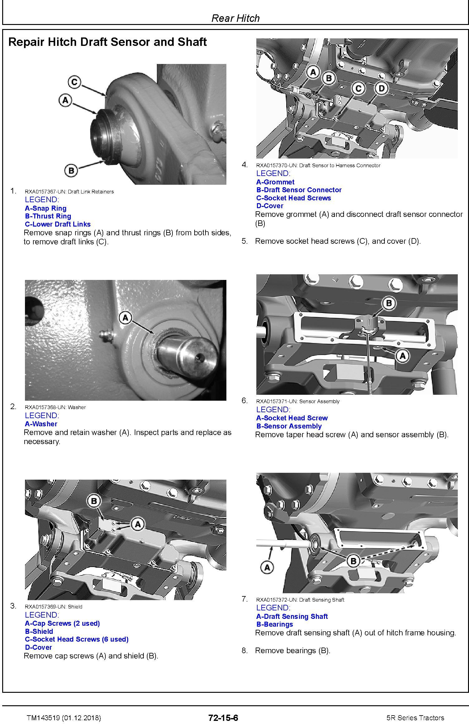 John Deere 5090R, 5100R, 5115R, 5115RH, 5125R Tractors Repair Technical Service Manual (TM143519) - 1