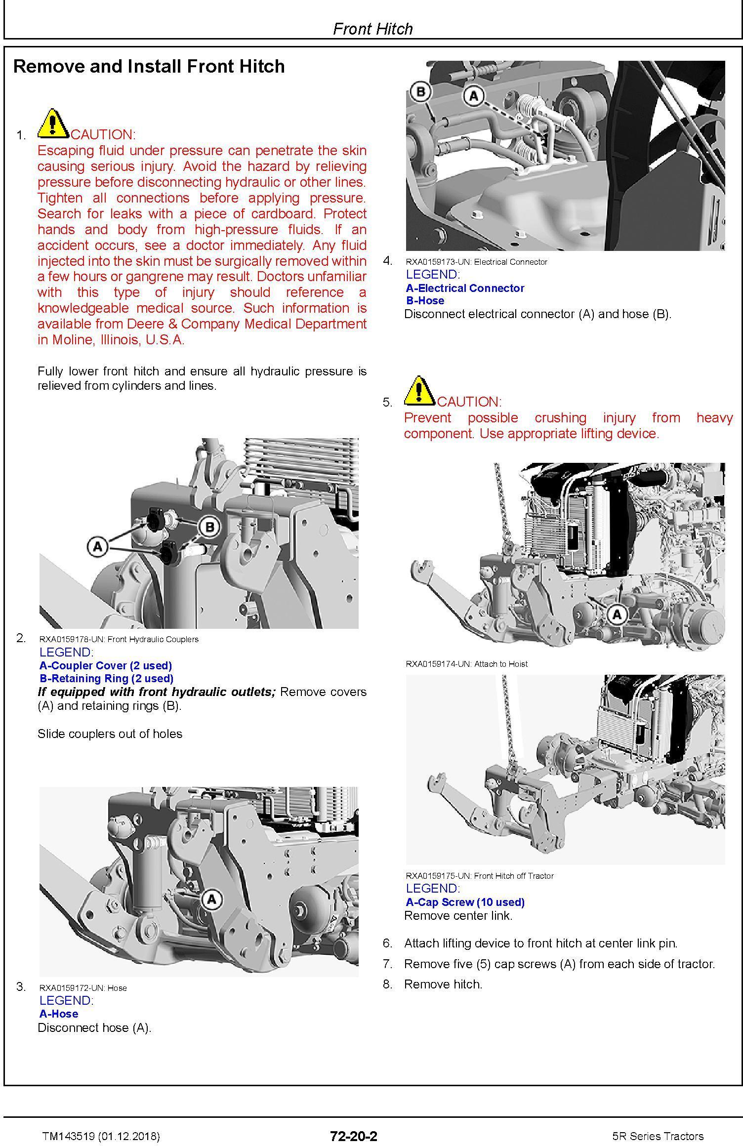 John Deere 5090R, 5100R, 5115R, 5115RH, 5125R Tractors Repair Technical Service Manual (TM143519) - 2