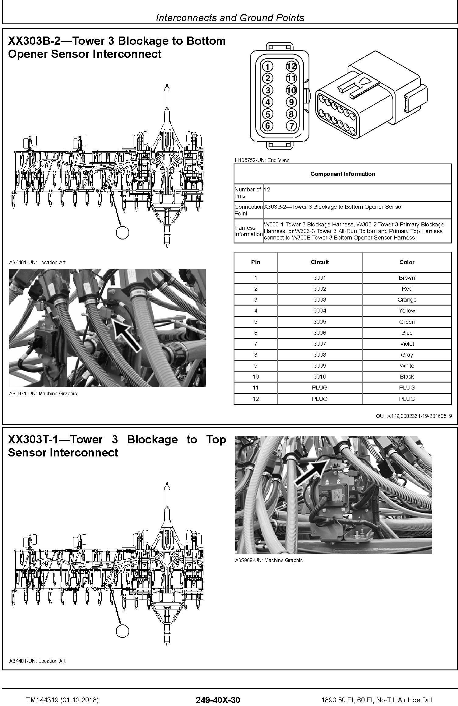 John Deere 1890 50 Ft, 60 Ft, No-Till Air Hoe Drill Diagnostic Technical Service Manual (TM144319) - 1