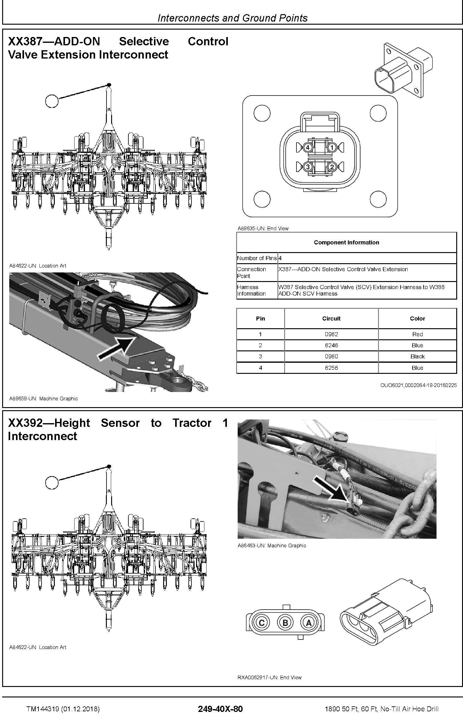 John Deere 1890 50 Ft, 60 Ft, No-Till Air Hoe Drill Diagnostic Technical Service Manual (TM144319) - 2