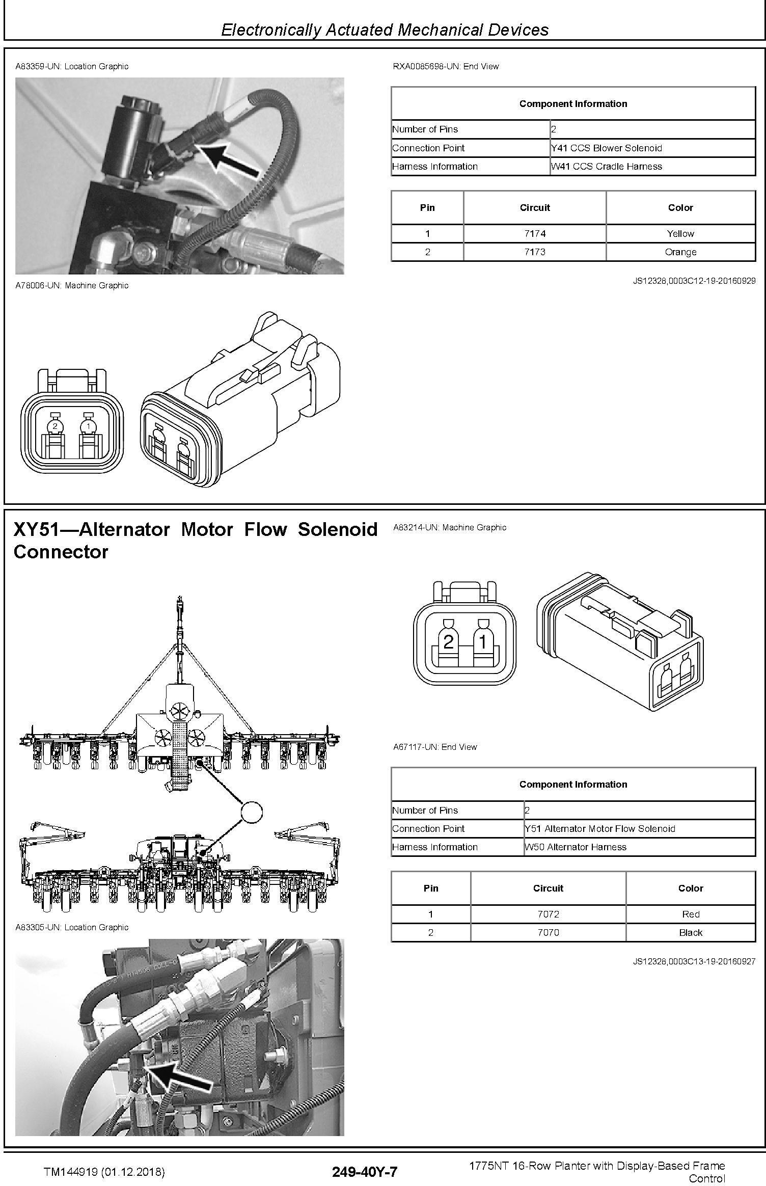 John Deere 1775NT 16row Planter w.Display-Based Frame Control Diagnostic Technical Manual (TM144919) - 2