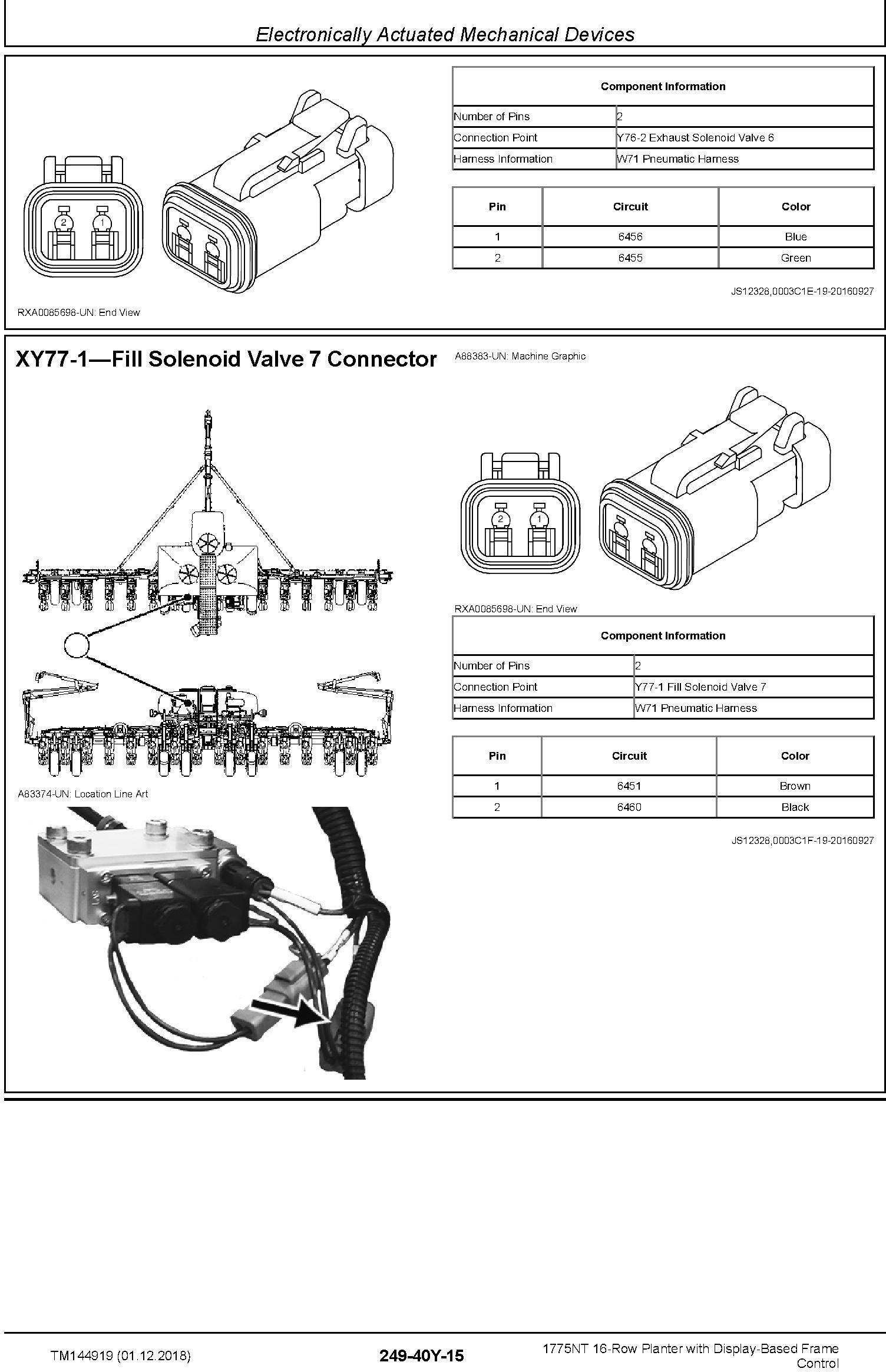 John Deere 1775NT 16row Planter w.Display-Based Frame Control Diagnostic Technical Manual (TM144919) - 3