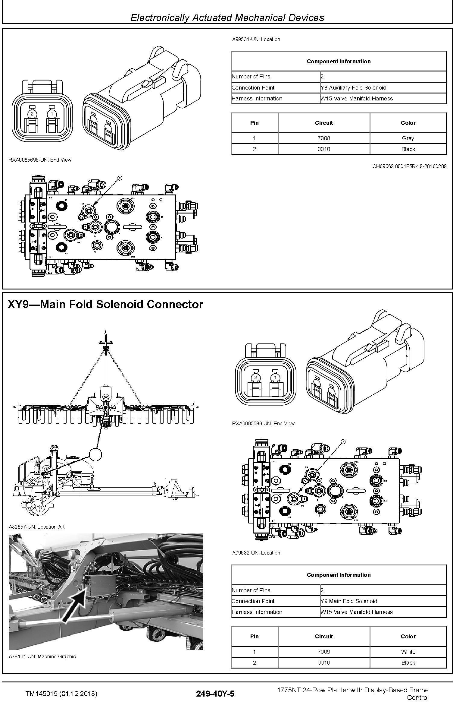 John Deere 1775NT 24row Planter w.Display-Based Frame Control Diagnostic Technical Manual (TM145019) - 3
