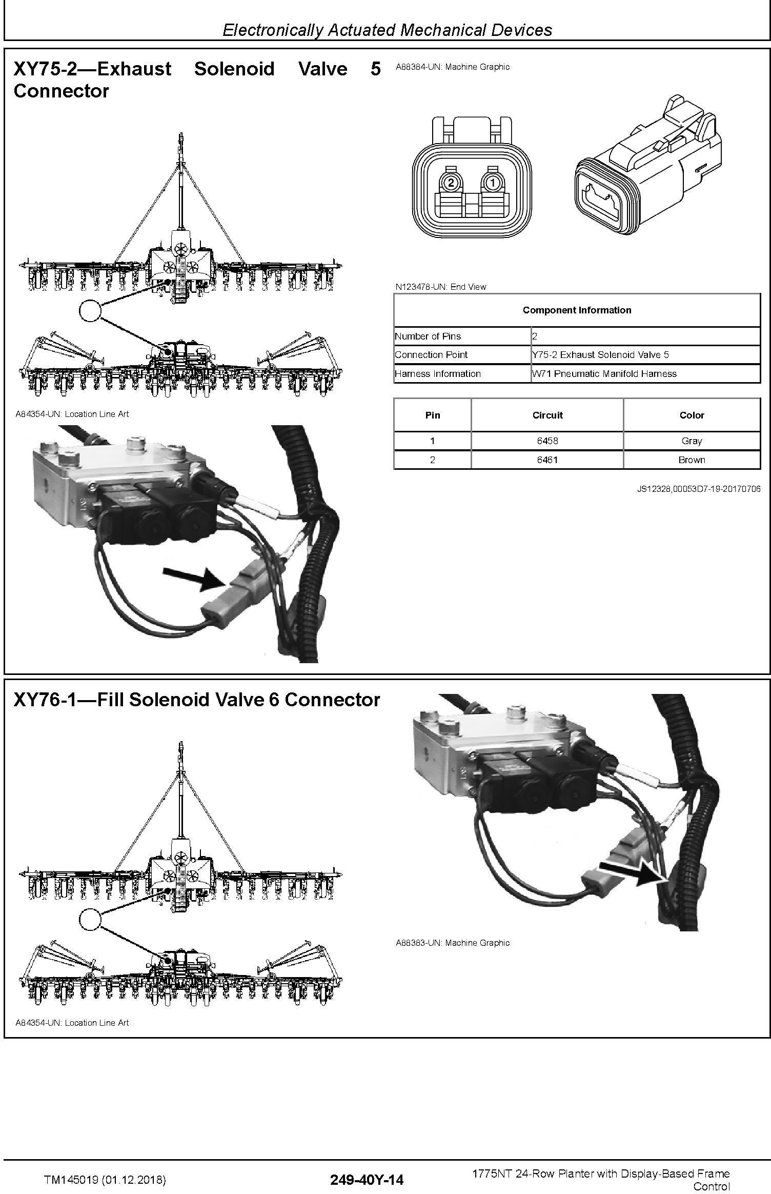 John Deere 1775NT 24row Planter w.Display-Based Frame Control Diagnostic Technical Manual (TM145019) - 2