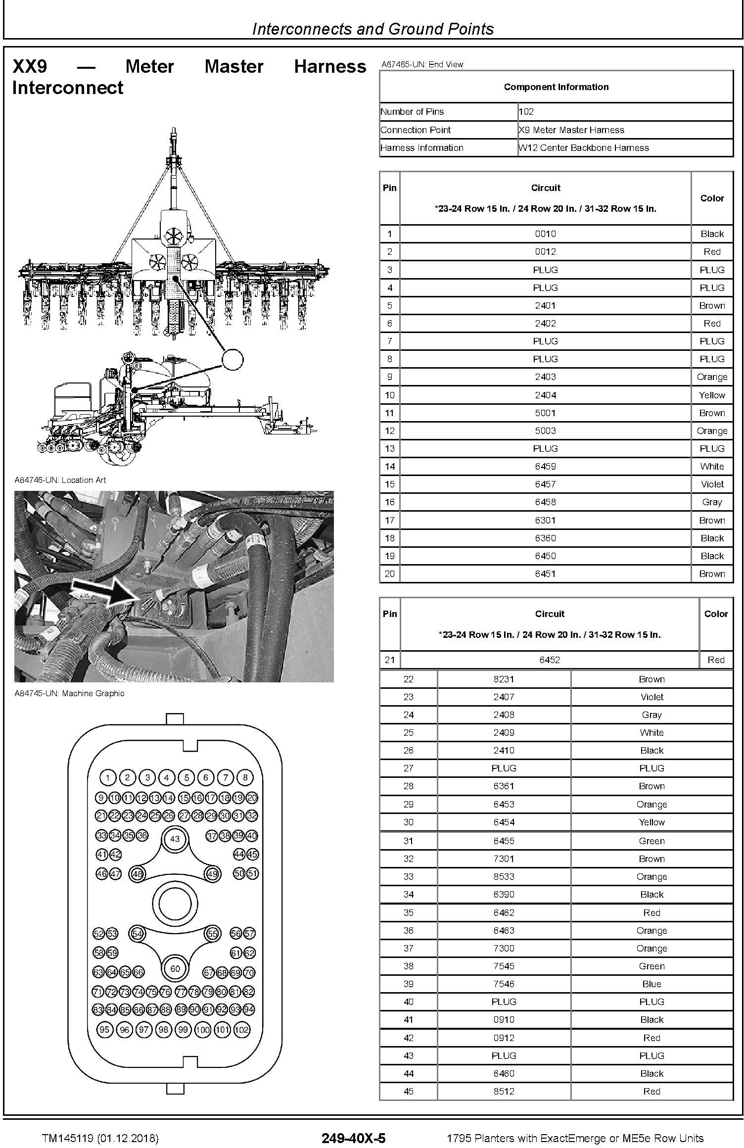 John Deere 1795 Planters with ExactEmerge or ME5e Row Units Diagnostic Technical Manual (TM145119) - 1