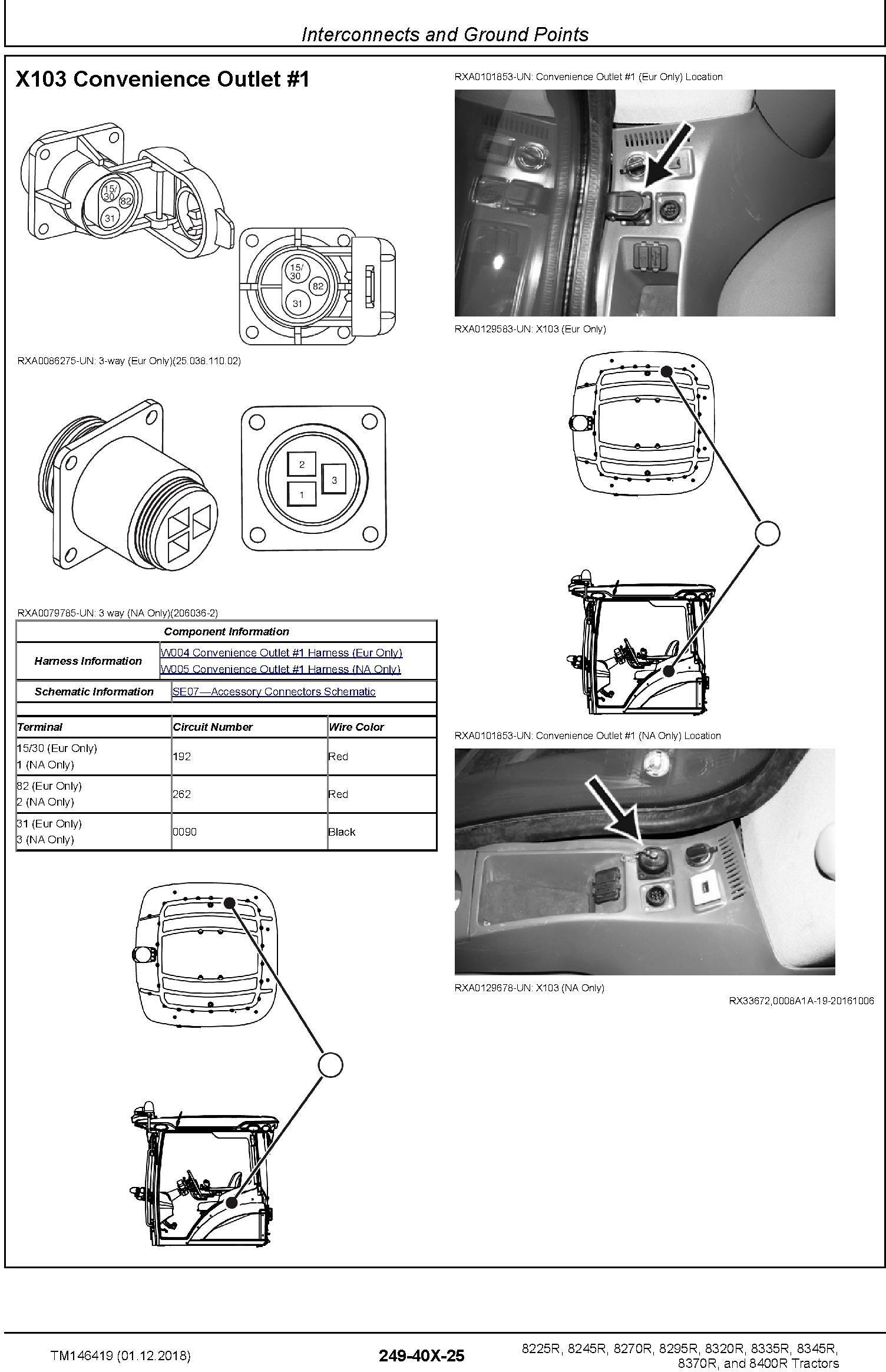 John Deere 8225R 8245R 8270R 8295R 8320R 8335R 8345R 8370R 8400R Tractors Diagnostic Manual TM146419 - 1