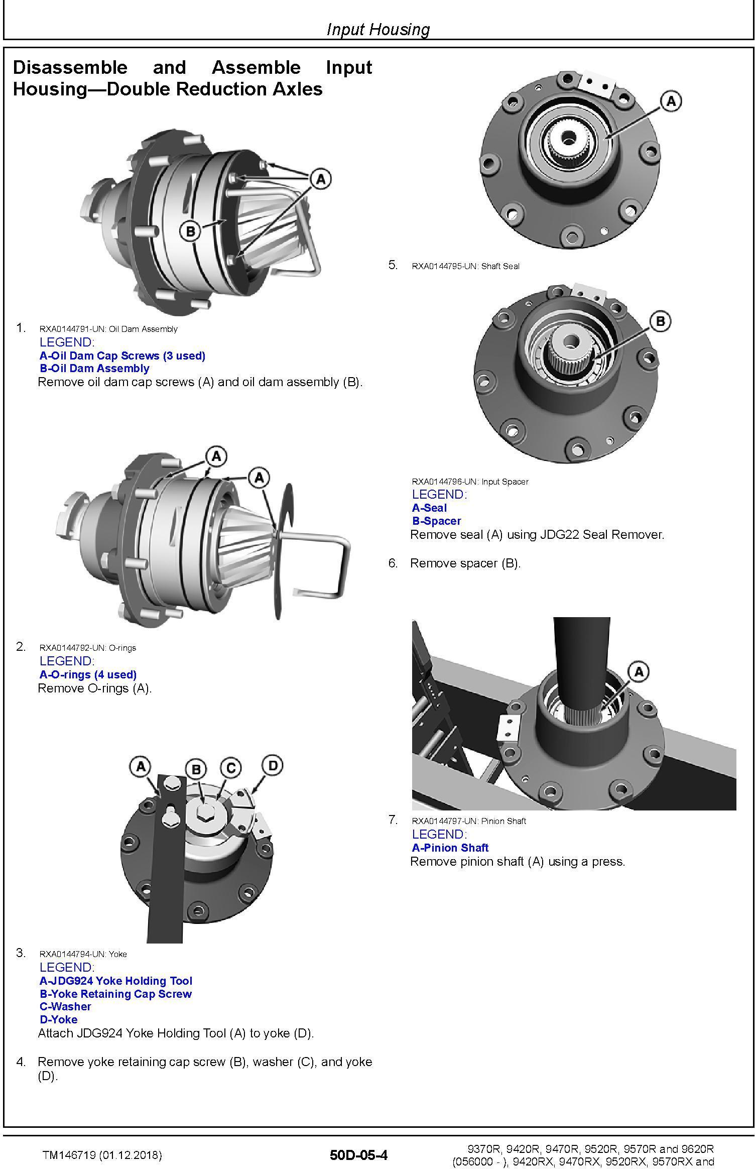 John Deere 9370R 9420R/RX 9470R/RX 9520R/RX 9570R/RX 9620R/RX Tractors Repair Manual (TM146719) - 1