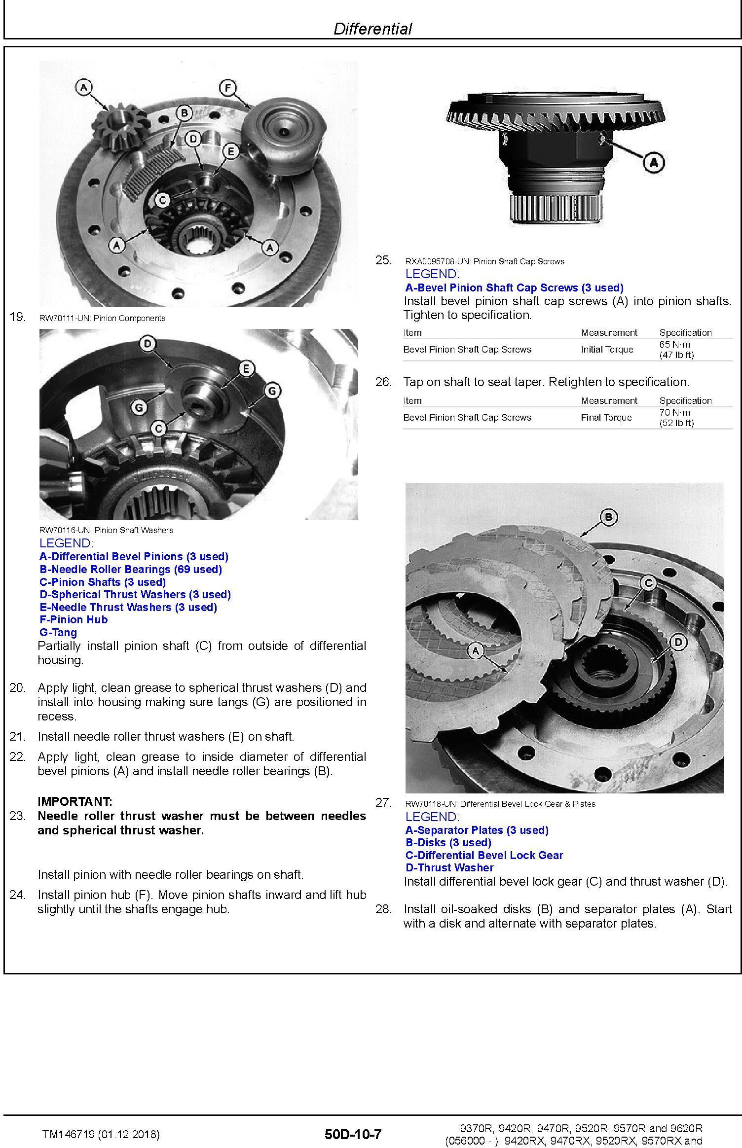 John Deere 9370R 9420R/RX 9470R/RX 9520R/RX 9570R/RX 9620R/RX Tractors Repair Manual (TM146719) - 2