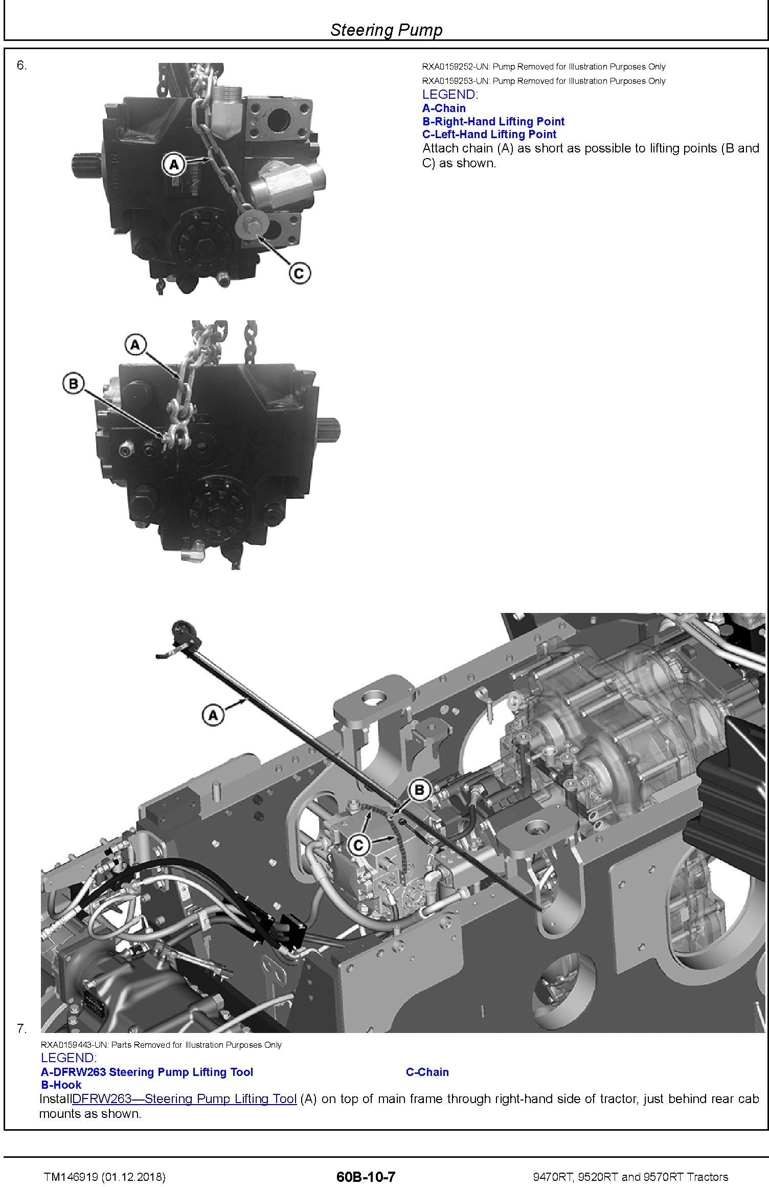 John Deere 9470RT, 9520RT and 9570RT Tractors (SN. 917000-) Repair Technical Manual (TM146919) - 3