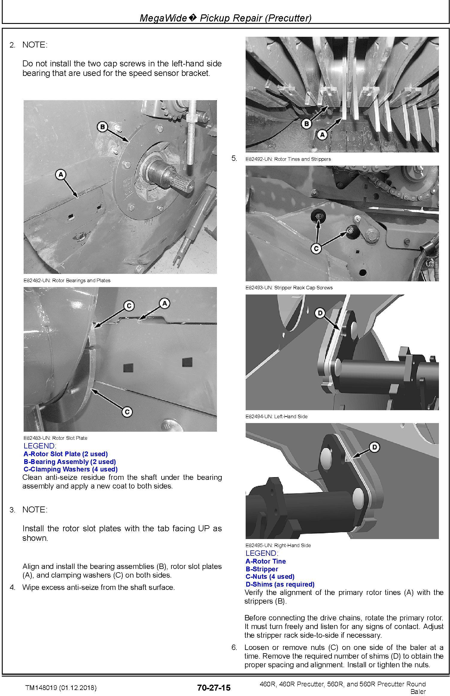 John Deere 460R, 460R Precutter, 560R, and 560R Precutter Round Baler Technical Manual (TM148019) - 2