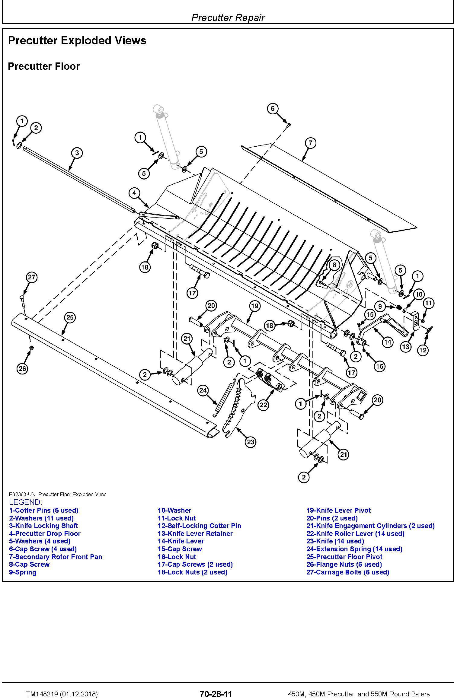 John Deere 450M, 450M Precutter, and 550M Round Balers Technical Service Manual (TM148219) - 2