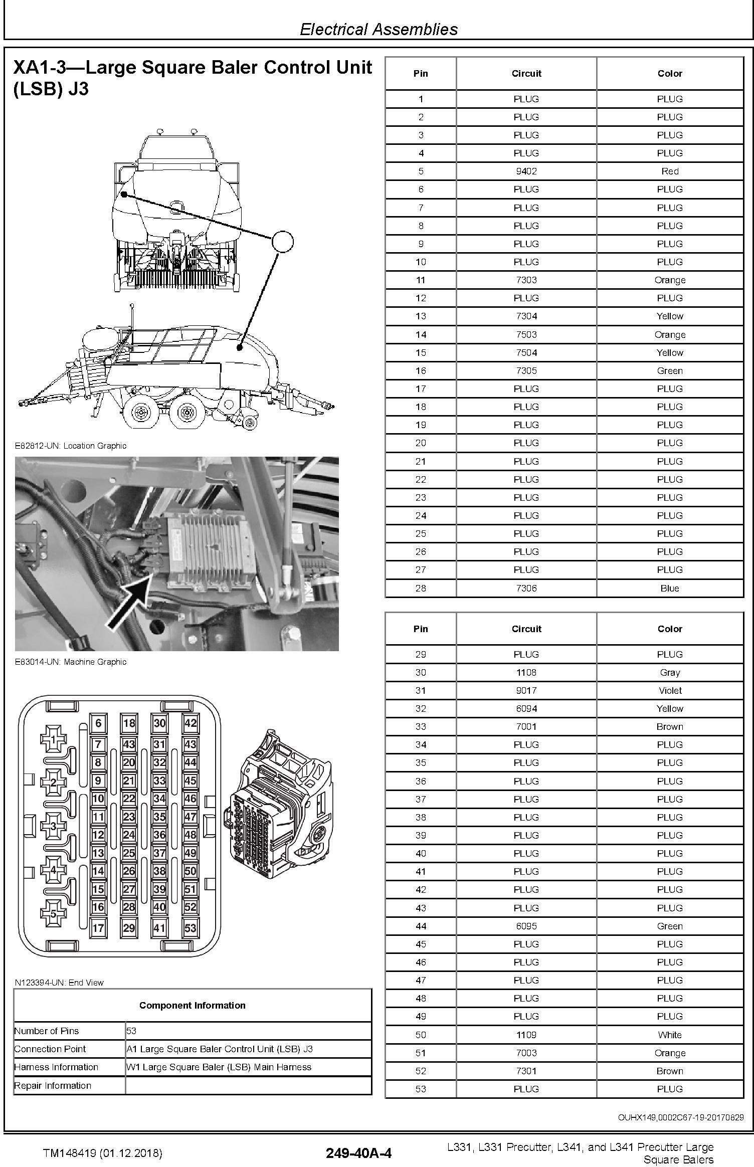 JD John Deere L331/Precutter, L341/ Precutter Large Square Balers Repair Technical Manual (TM148419) - 1