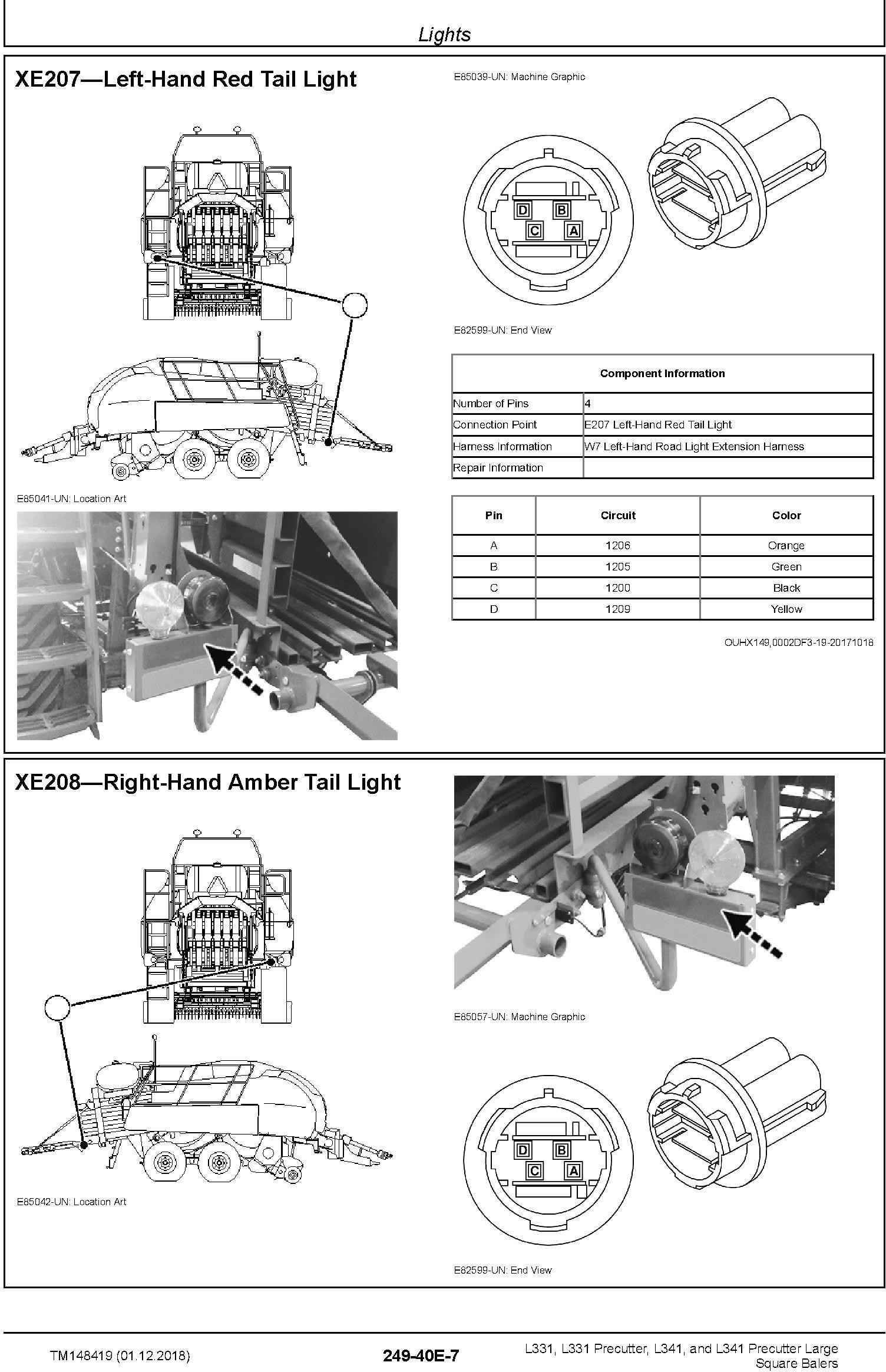 JD John Deere L331/Precutter, L341/ Precutter Large Square Balers Repair Technical Manual (TM148419) - 2