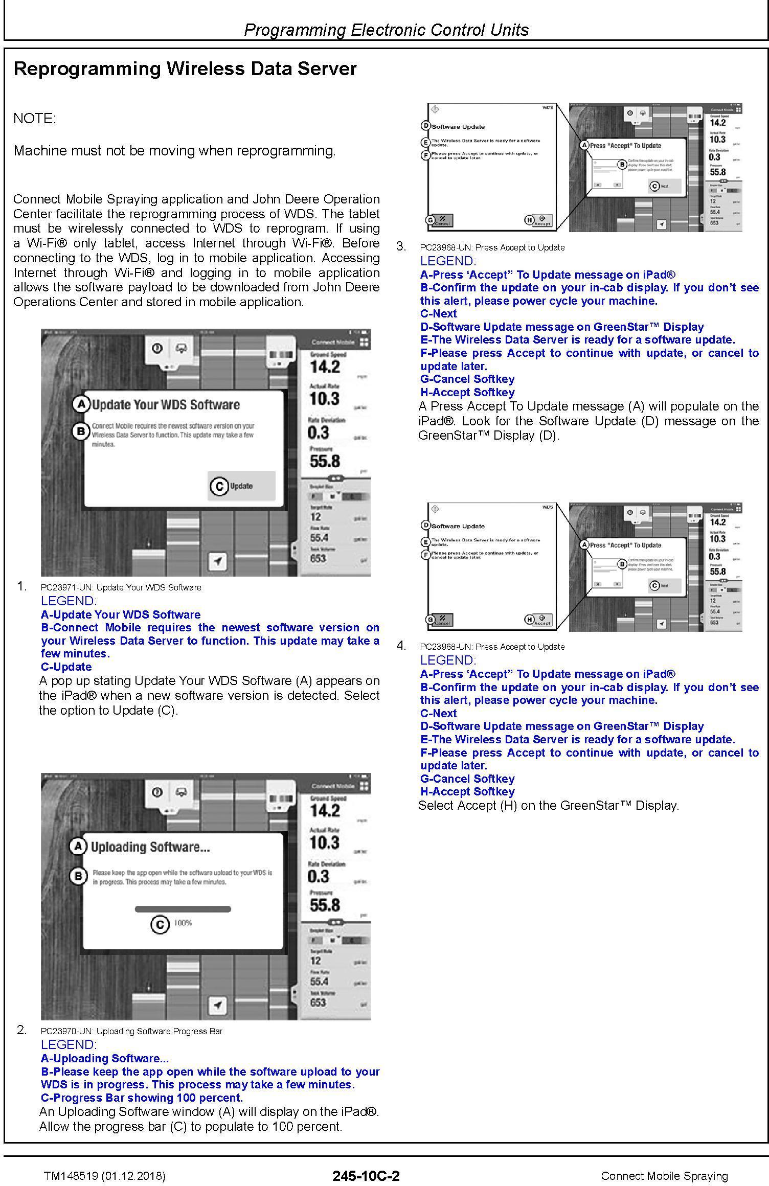 John Deere Connect Mobile Spraying Repair Technical Service Manual (TM148519) - 2