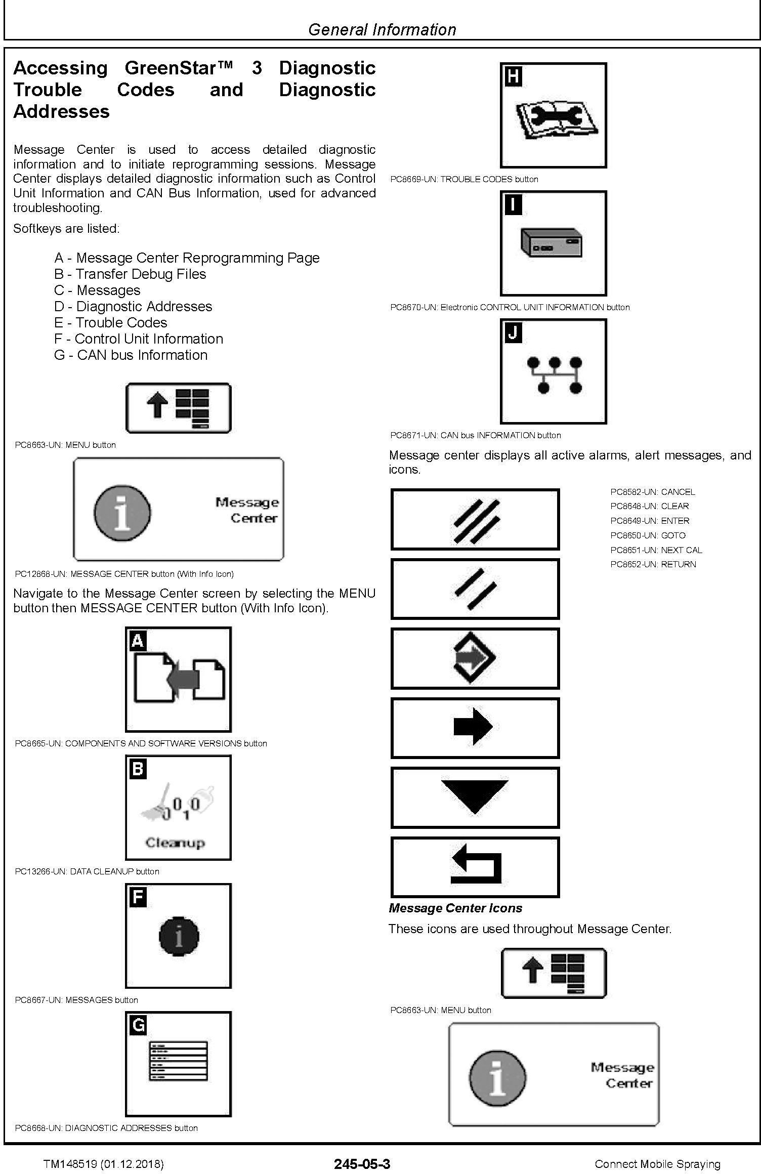 John Deere Connect Mobile Spraying Repair Technical Service Manual (TM148519) - 1