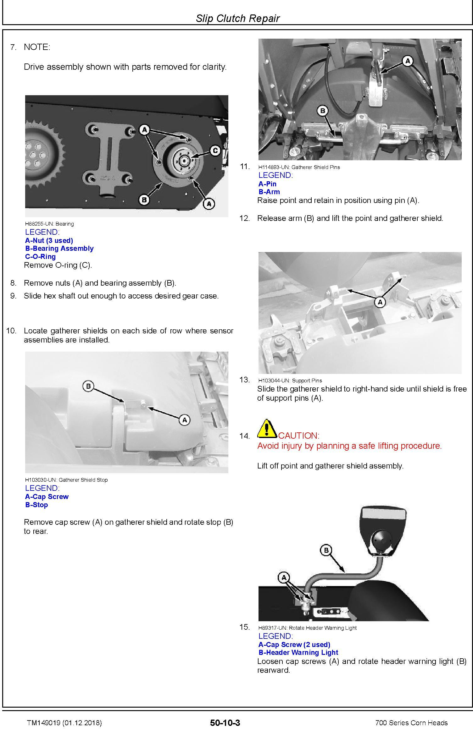 JD John Deere 706C, 708C, 712C, 712FC, 716C, 718C Corn Heads Repair Technical Service Manual (TM149019) - 3