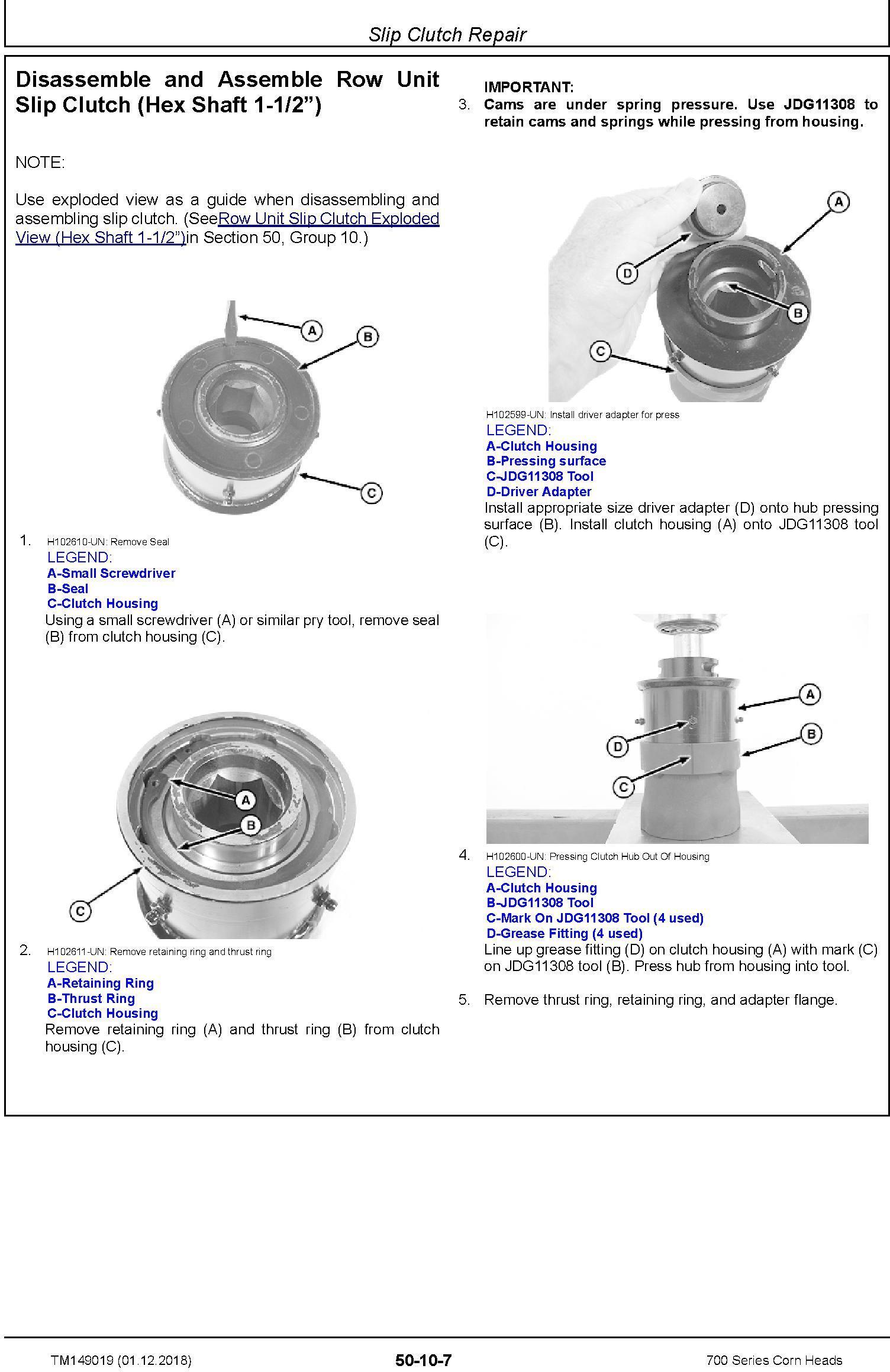 JD John Deere 706C, 708C, 712C, 712FC, 716C, 718C Corn Heads Repair Technical Service Manual (TM149019) - 1