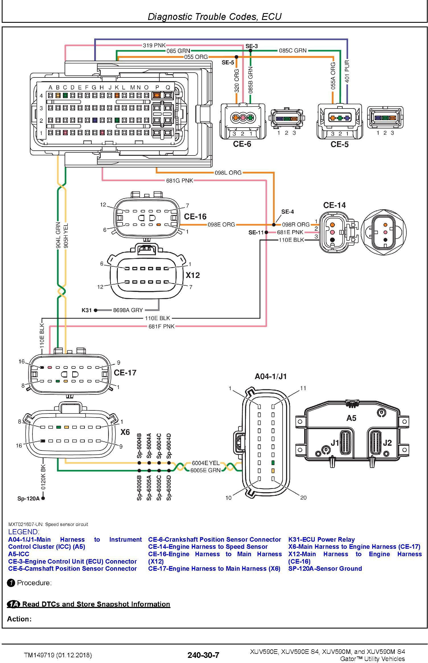 John Deere XUV590E(S4), XUV590E(S4) Gator Utility Vehicles (SN. 010001-) Technical Manual (TM149719) - 1