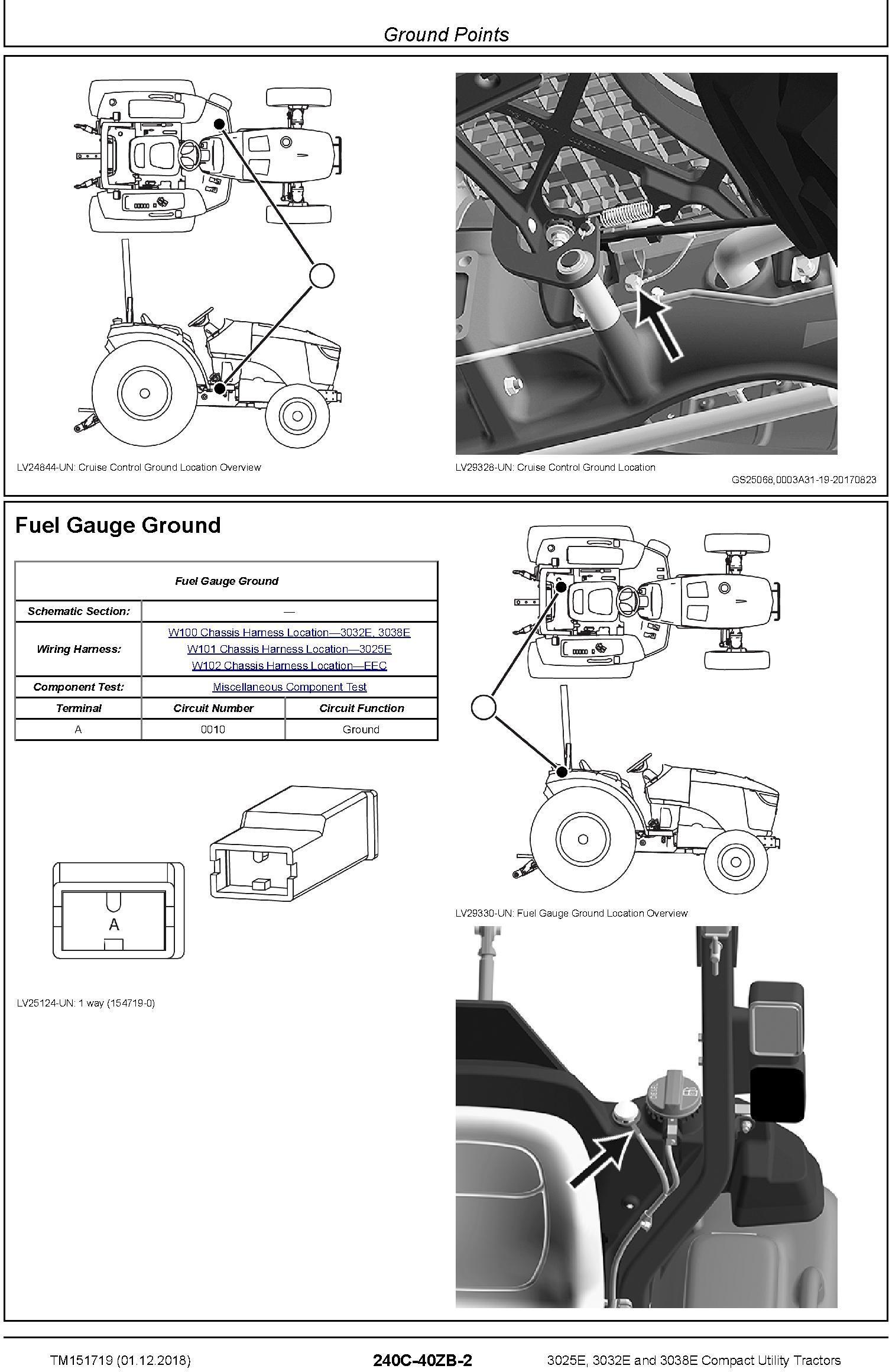 John Deere 3025E, 3032E, 3038E (SN. HJ_000001-) Compact Utility Tractors Technical Manual (TM151719) - 2