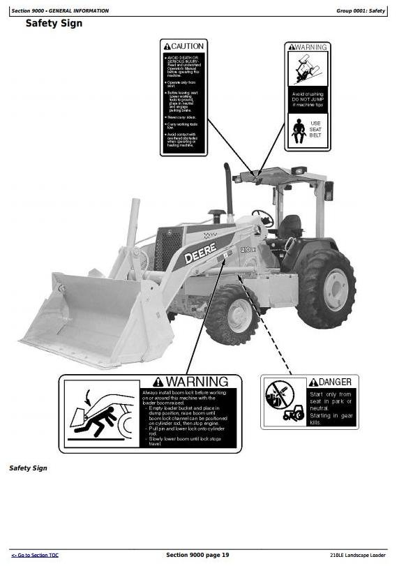 TM1691 - John Deere 210LE Landscape Loader (SN.–888003) Diagnostic, Operation & Test Service Manual - 3