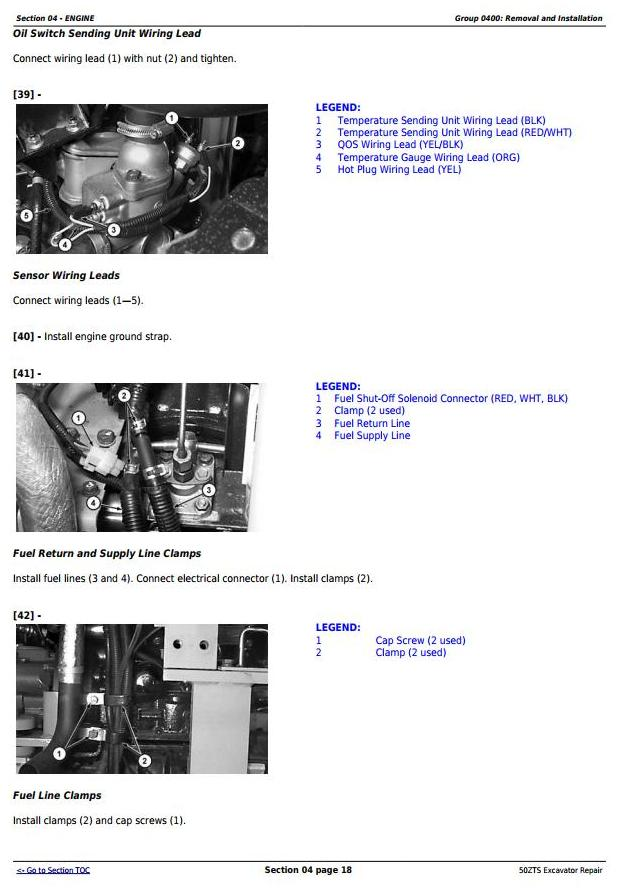 TM1818 - John Deere 50ZTS Compact Excavator Service Repair Technical Manual - 1