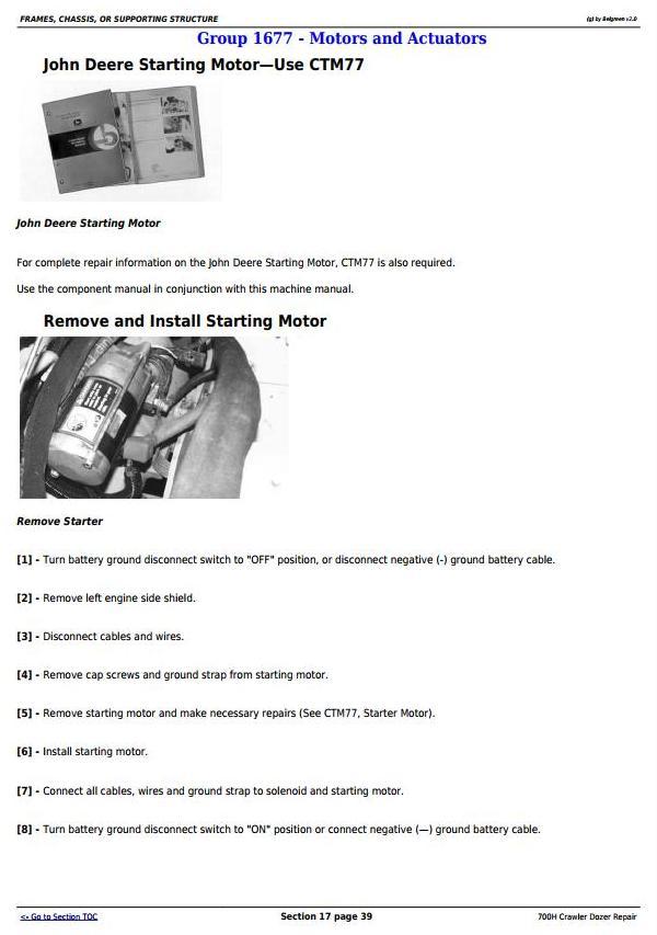 TM1859 - John Deere 700H Crawler Dozer Service Repair Technical Manual - 3