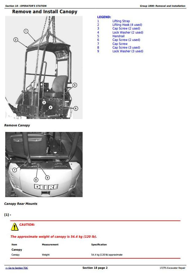 TM1897 - John Deere 17ZTS Compact Excavator Service Repair Technical Manual - 3