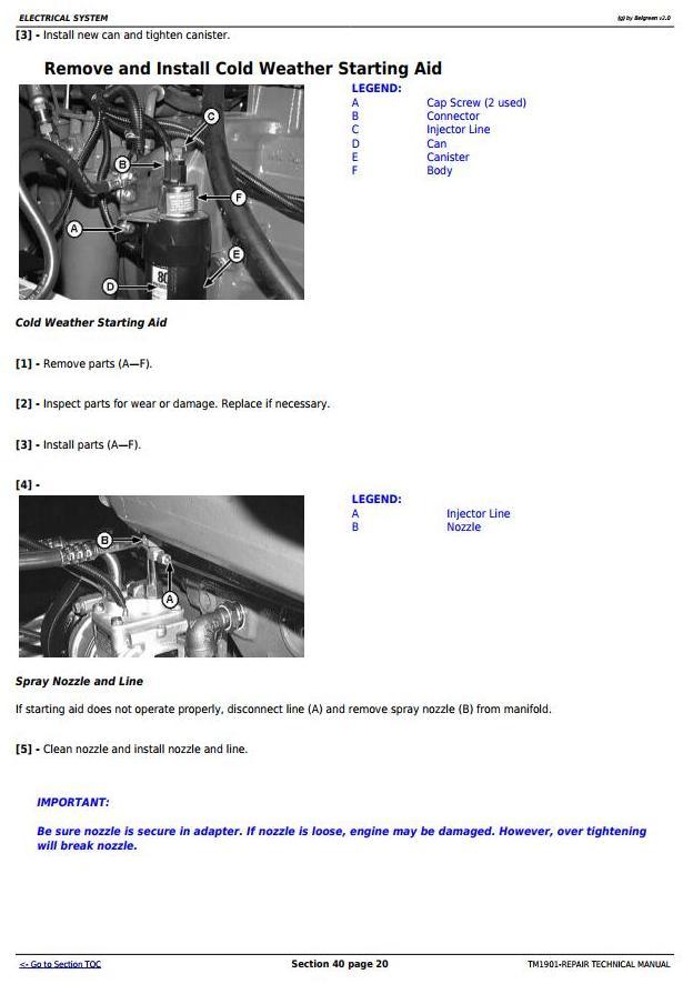 TM1901 - John Deere 9650 STS (-695500) , 9750 STS (-695600) Combines Service Repair Technical Manual - 1