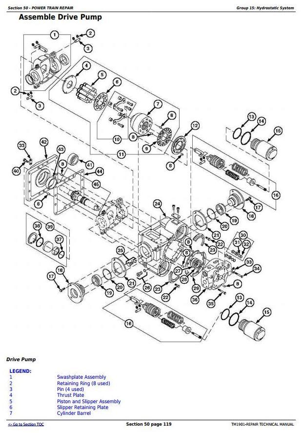 TM1901 - John Deere 9650 STS (-695500) , 9750 STS (-695600) Combines Service Repair Technical Manual - 2