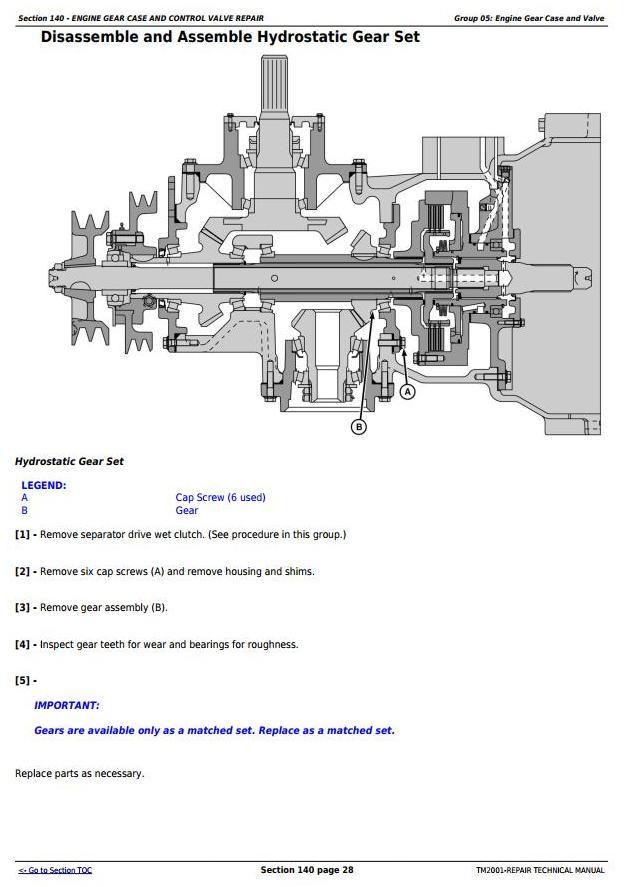 TM2001 - John Deere 9450 (SN.695101-), 9550 (695201-), 9650 (695301-) Combines Service Repair Manual - 3