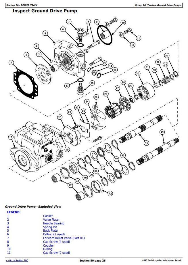 TM2033 - John Deere 4895 Self-Propelled Hay and Forage Windrower (SN.-180000) Service Repair Manual - 2