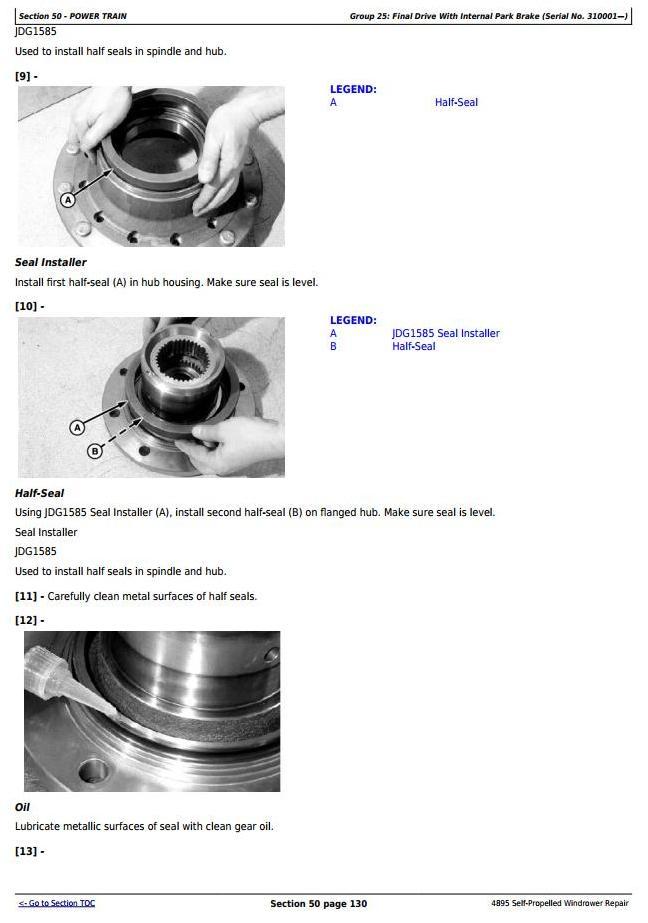TM2033 - John Deere 4895 Self-Propelled Hay and Forage Windrower (SN.-180000) Service Repair Manual - 3